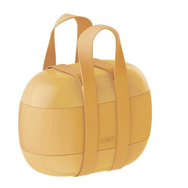 Alessi Food A Porter Lunch Box - Color: Yellow - SA02 Y