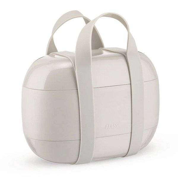 Alessi Food A Porter Lunch Box - Color: Grey - SA02 G