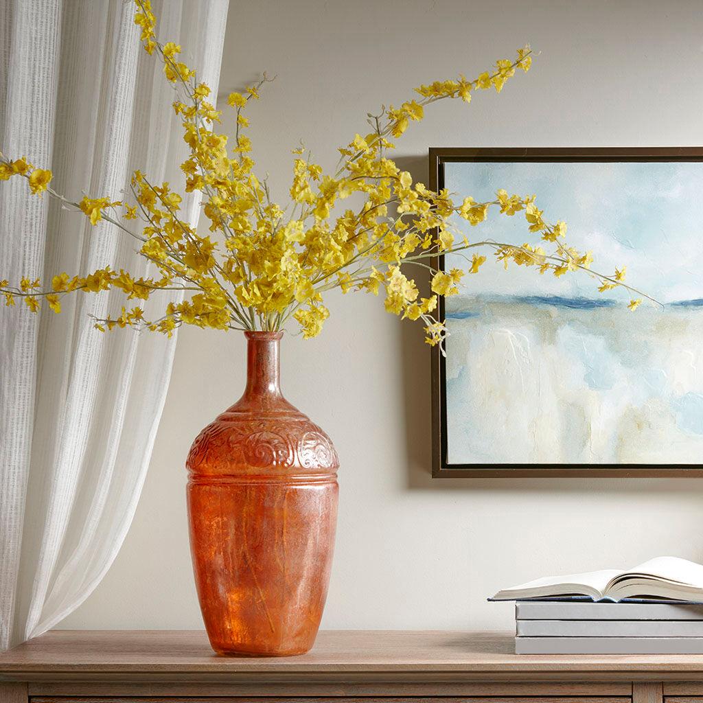 Madison Park - Hobro Glass Vase - Brown - See below