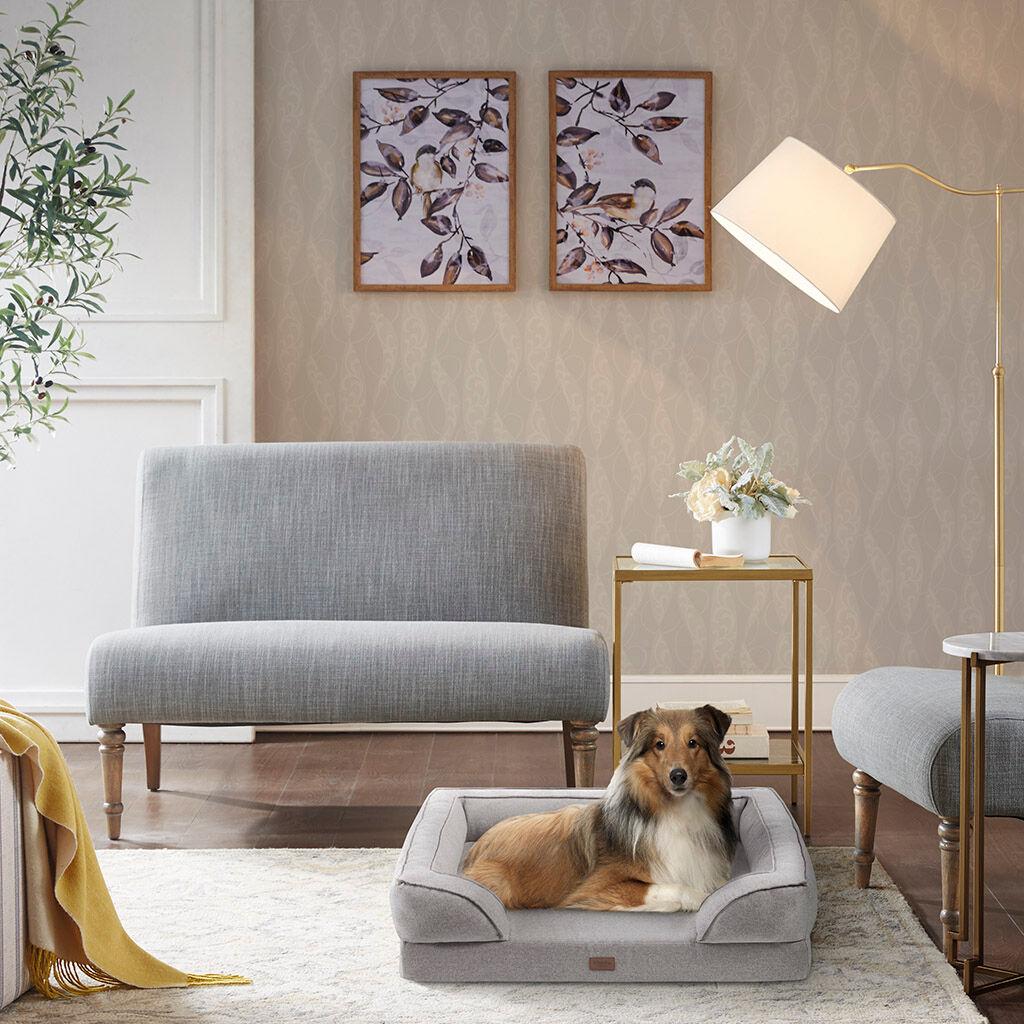 "Martha Stewart - Bella Pet Couch - Grey - 20x25+5.5"""