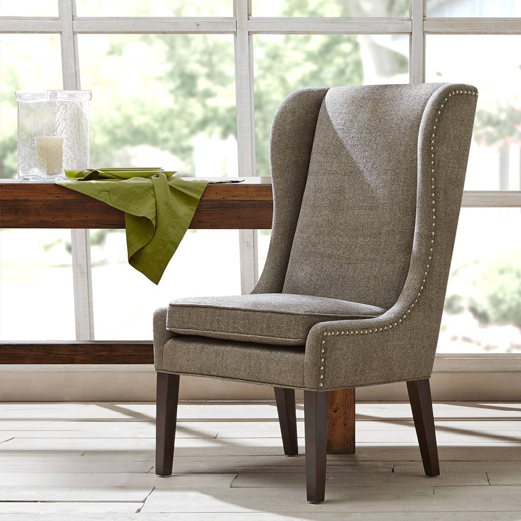 Madison Park - Garbo Captains Dining Chair - Grey - See below