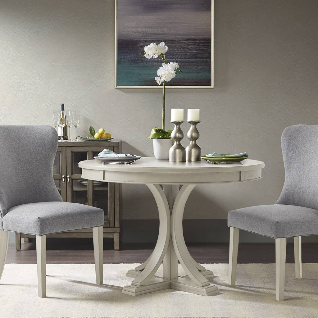 Madison Park Signature - Helena Round Dining Table - Antique Cream - See below