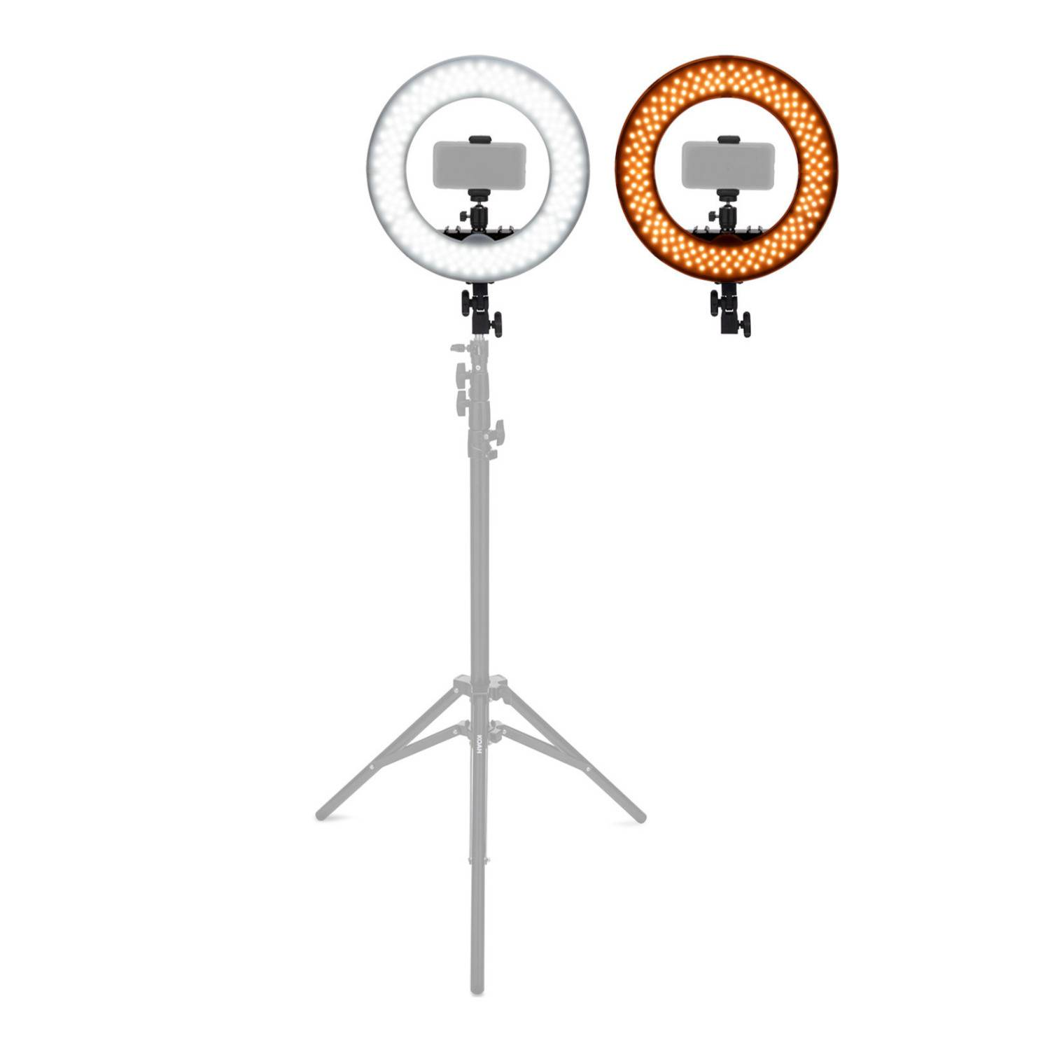 """Koah SOL SPHERE 13"""" 42W Ring Light Kit with Carrying Bag and Smartphone Holder for YouTube, Selfies and Content Creation"""