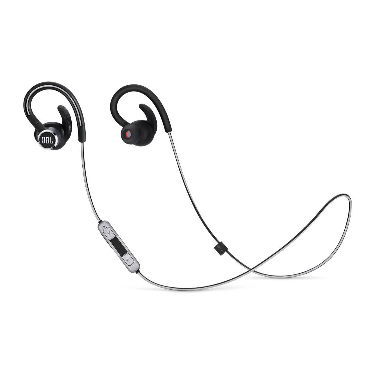 JBL Reflect Contour 2 Wireless Sport in-Ear Headphones with Three-Button Remote and Microphone (Black)