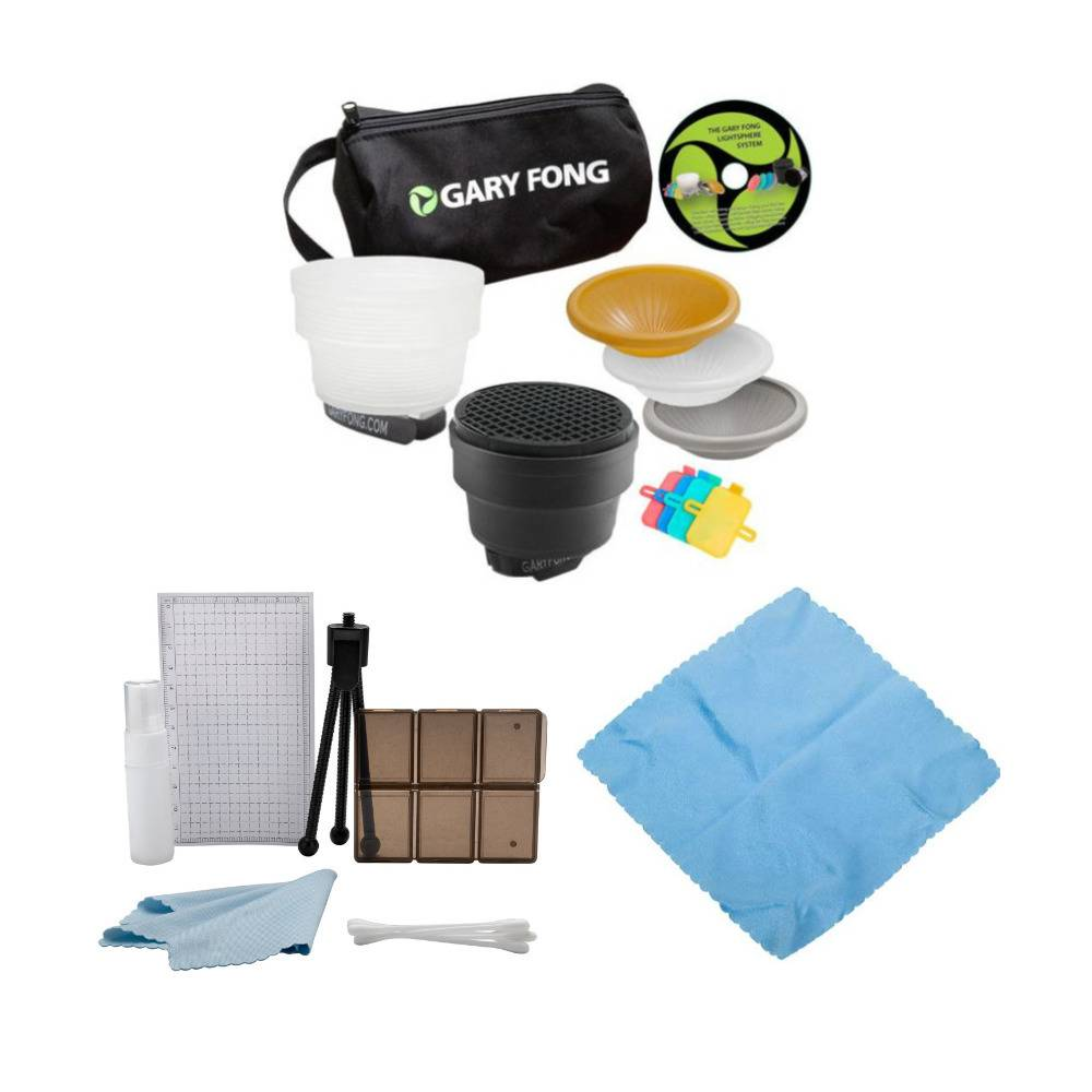 Gary Fong Fashion and Commercial Lighting Flash Modifying Bundle with Cleaning Cloth and Accessory Kit