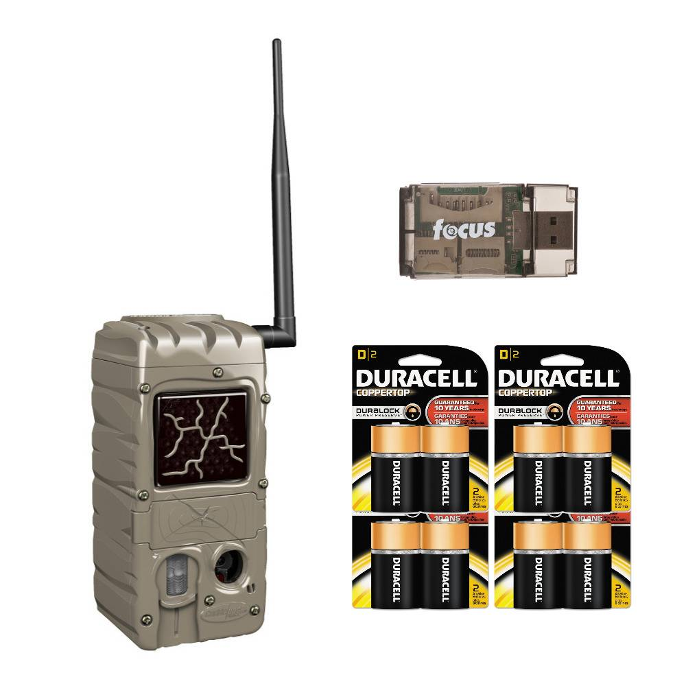 Cuddeback CuddeLink G Series Dual Flash 20MP Trail Camera with Batteries and USB 2.0 Card Reader