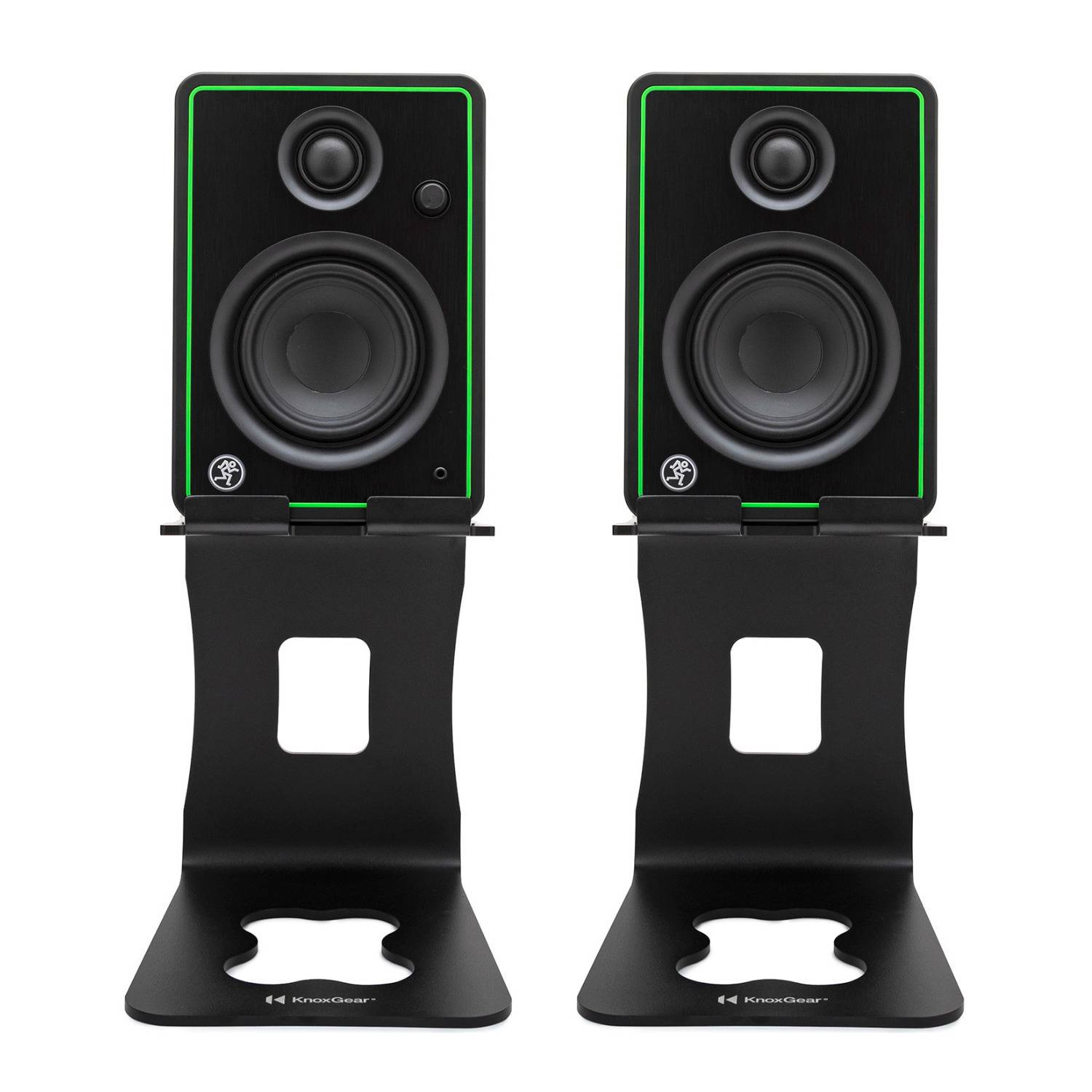 Mackie CR4-X 4-Inch Multimedia Monitors (Pair) Bundle with Knox Gear Monitor Stands