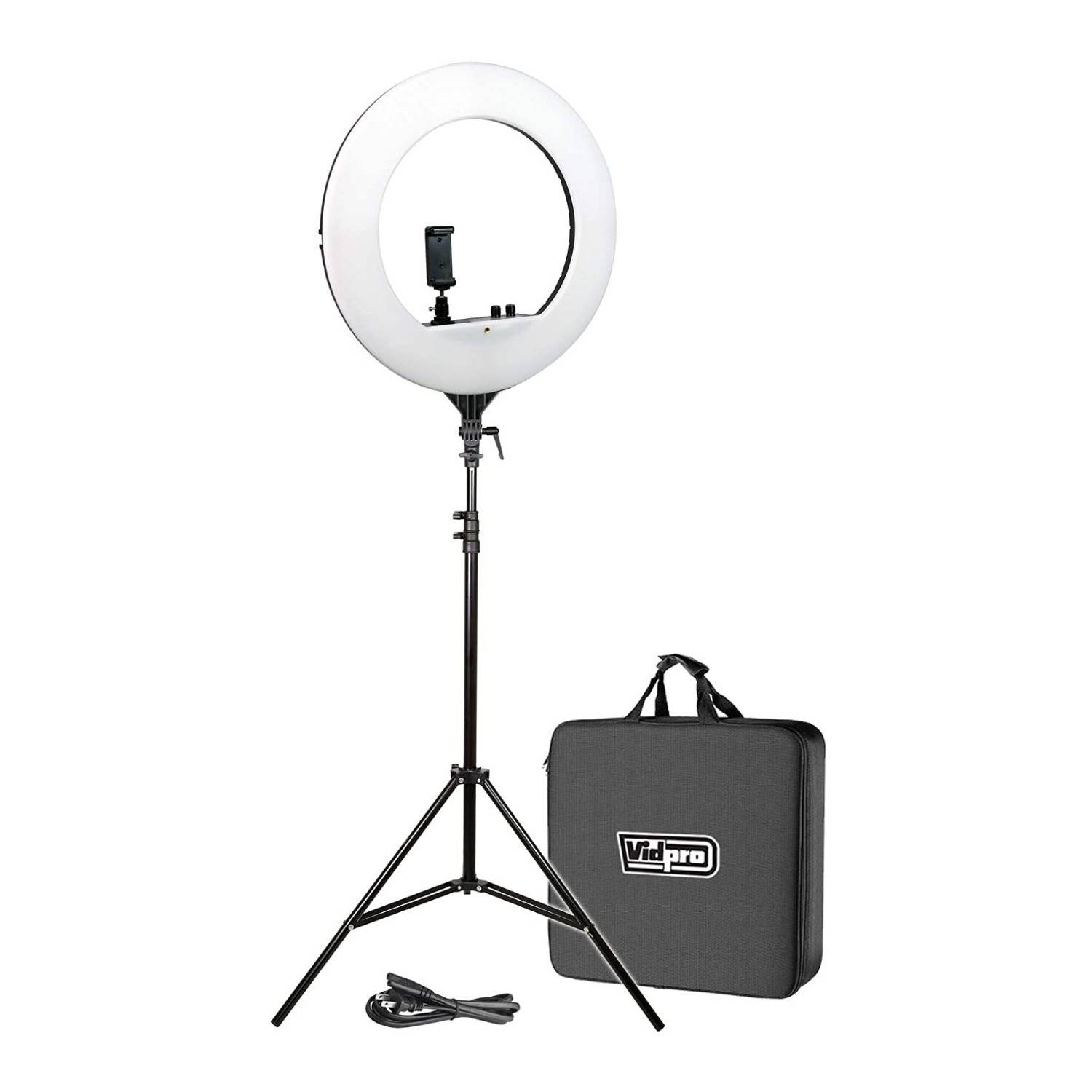 Vidpro RL-18 LED 18-Inch Ring Light Kit with Stand and Case
