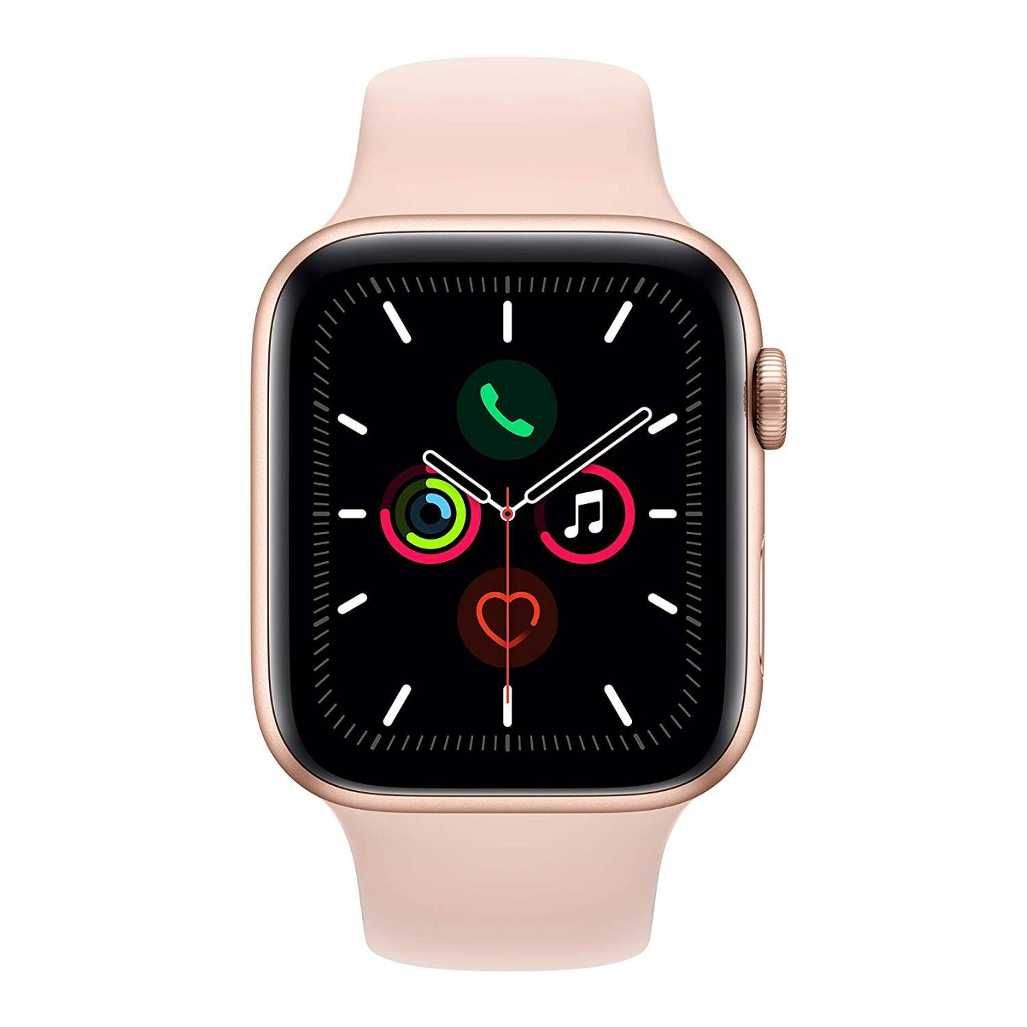 Apple Series 5 44mm GPS Smartwatch (Gold Aluminum Case with Pink Sand Sport Band)