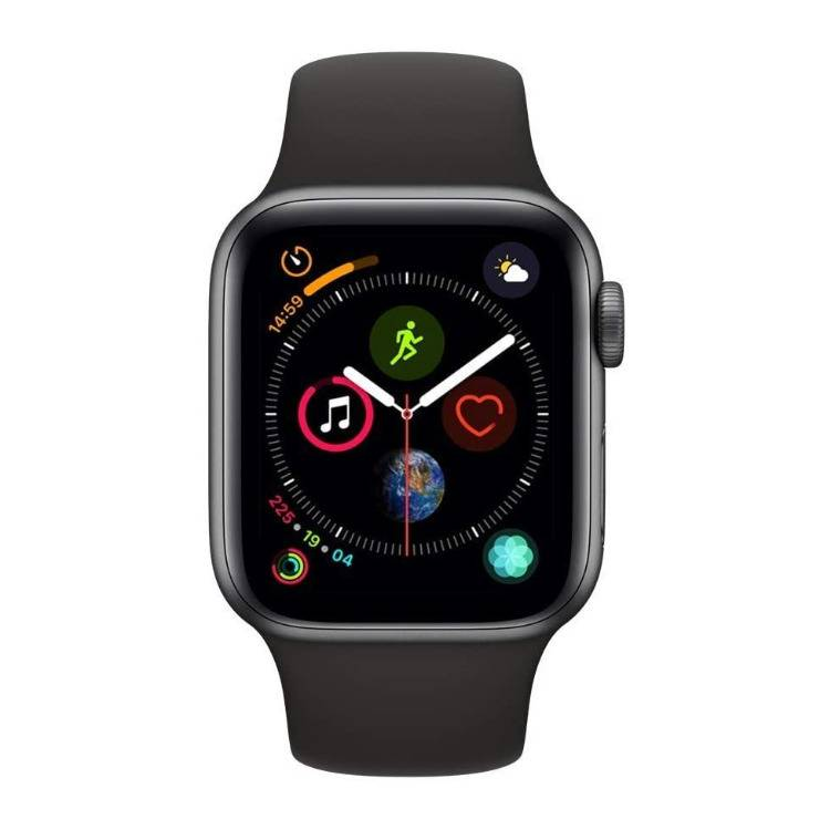Apple Series 4 40mm GPS and Cellular Watch (Space Gray Aluminum Case with Black Sport Band)