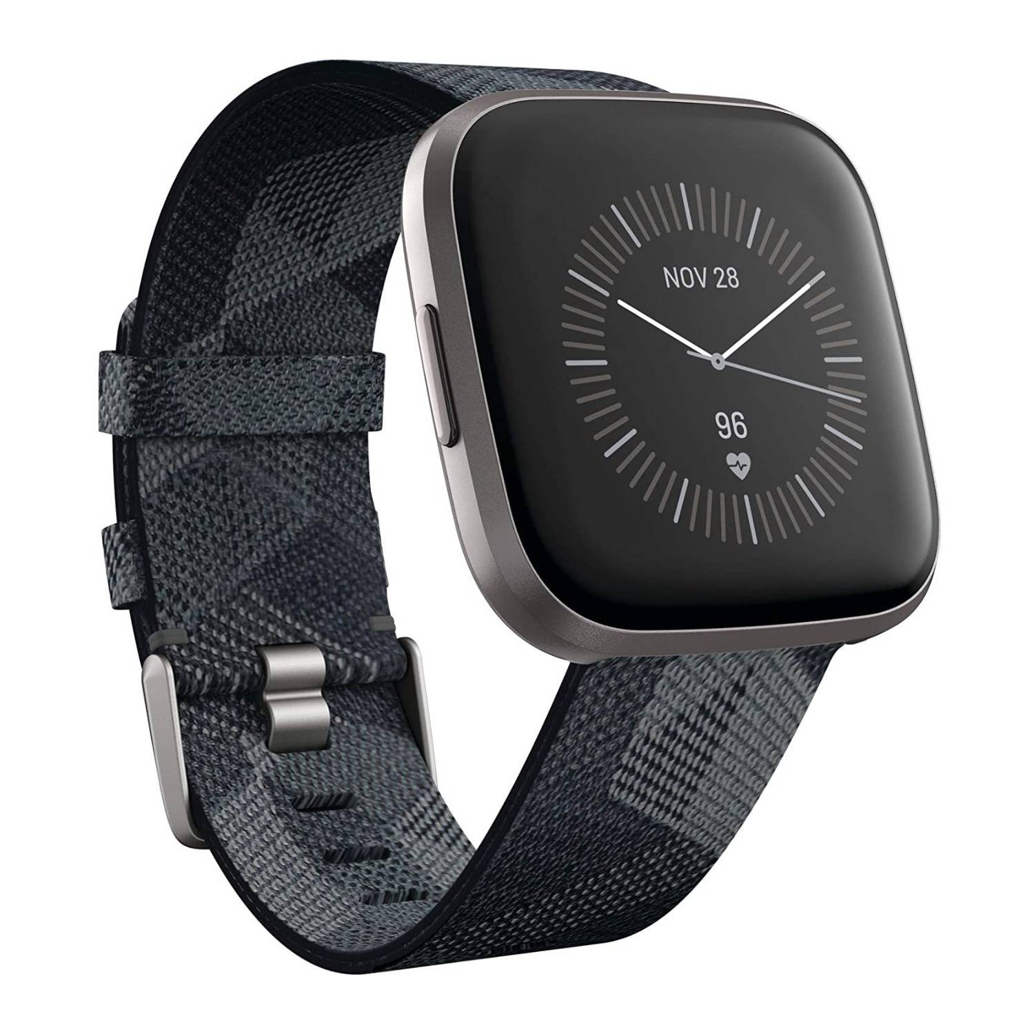 Fitbit Versa 2 Health and Fitness Smartwatch with Heart Rate Monitor (Smoke Woven/Mist Gray, Special Edition)