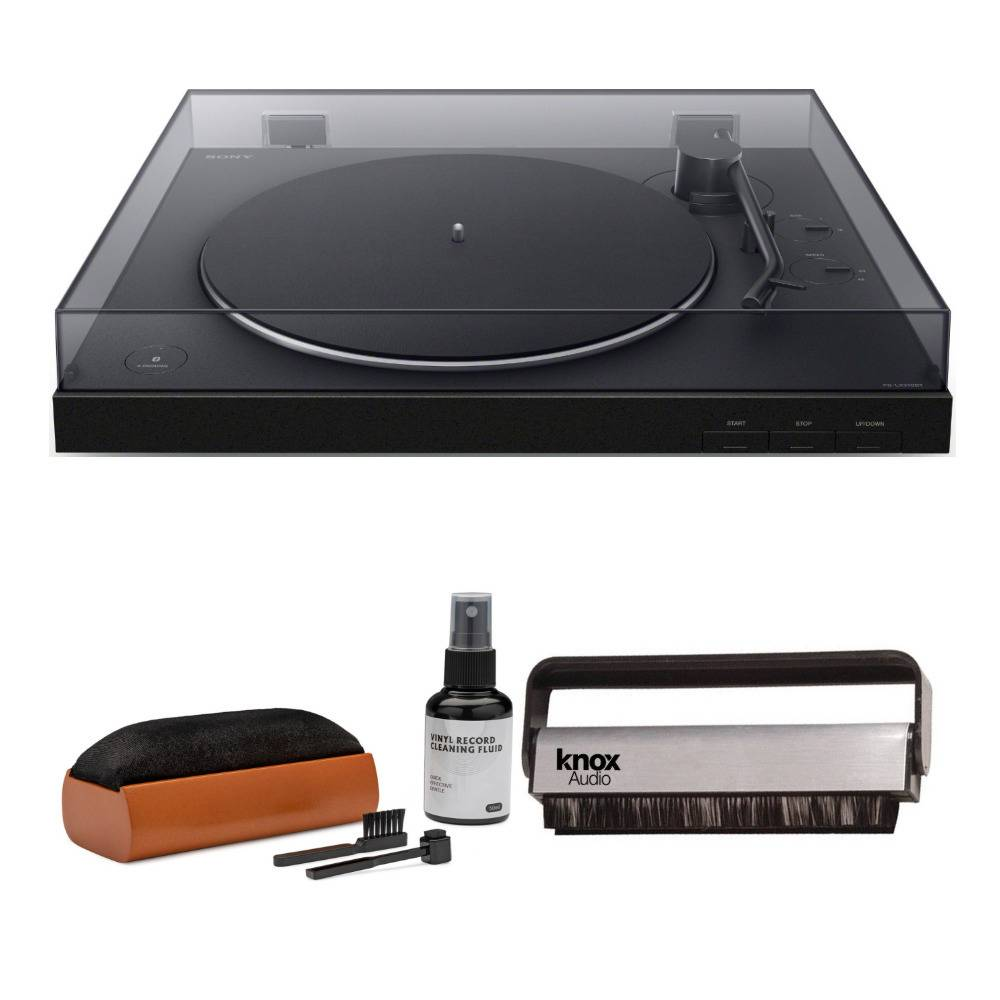 Sony PS-LX310BT Wireless Bluetooth Turntable with Vinyl Cleaning Bundle