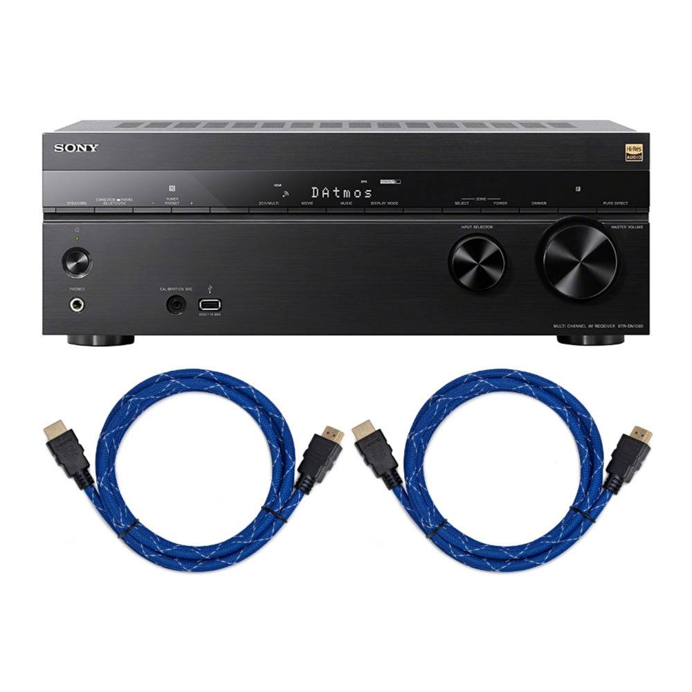 Sony STR-DN1080 7.2-Channel Dolby Atmos Surround Sound AV Home Theater Receiver Bundle