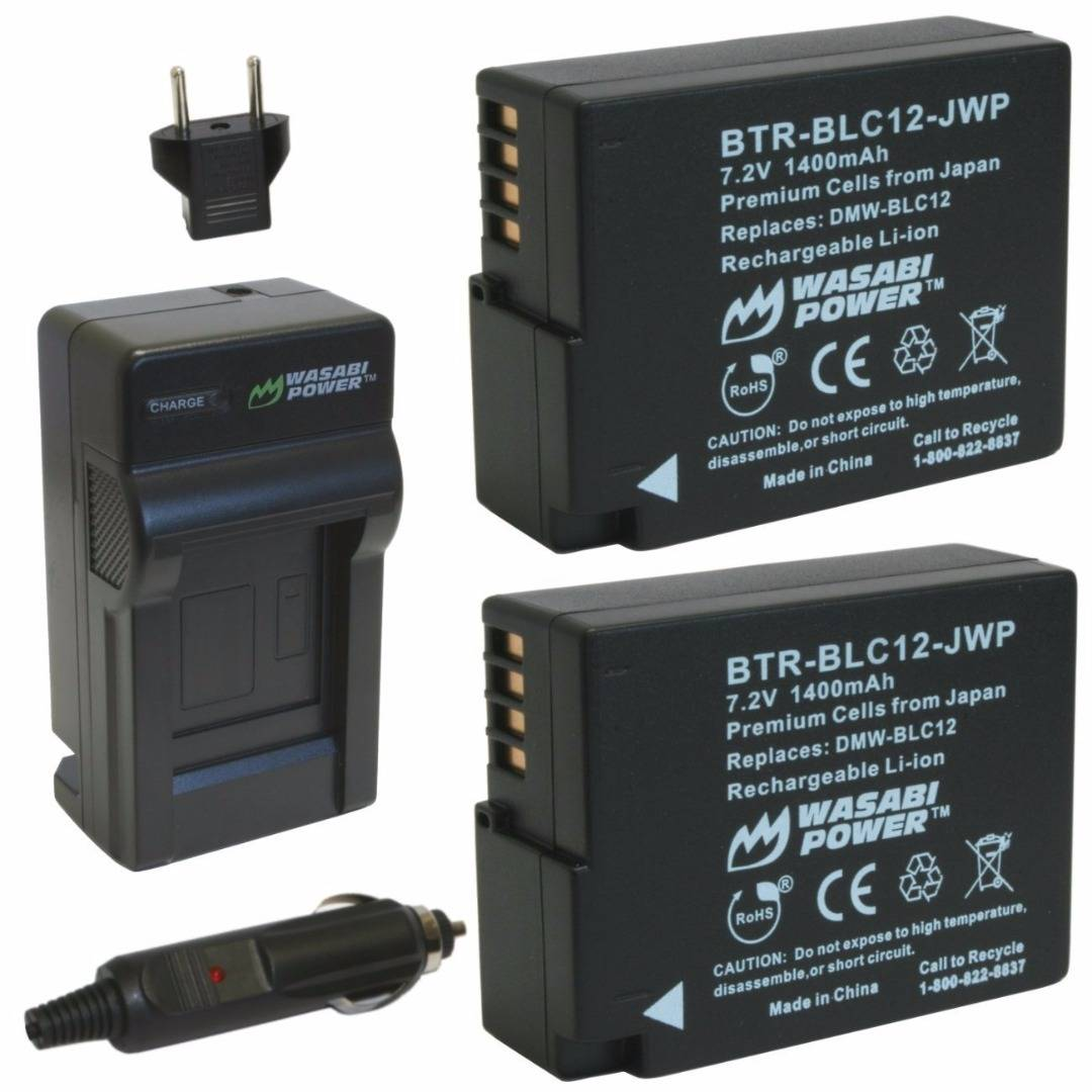 Wasabi Power DMW-BLC12 Batteries (2-Pack) with Charger