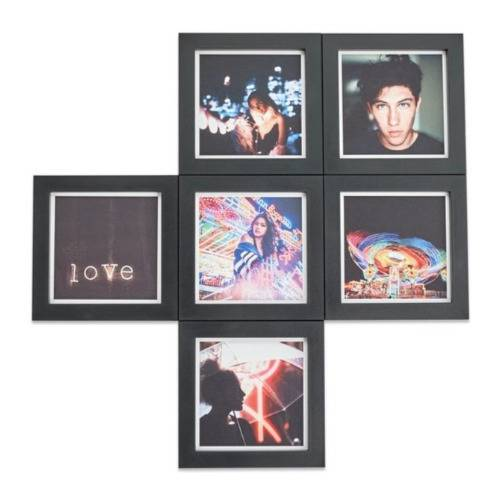 Magnaframe Classic Magnetic Photo Frame for 4x4-Inch Square Prints (6-Pack, Black)