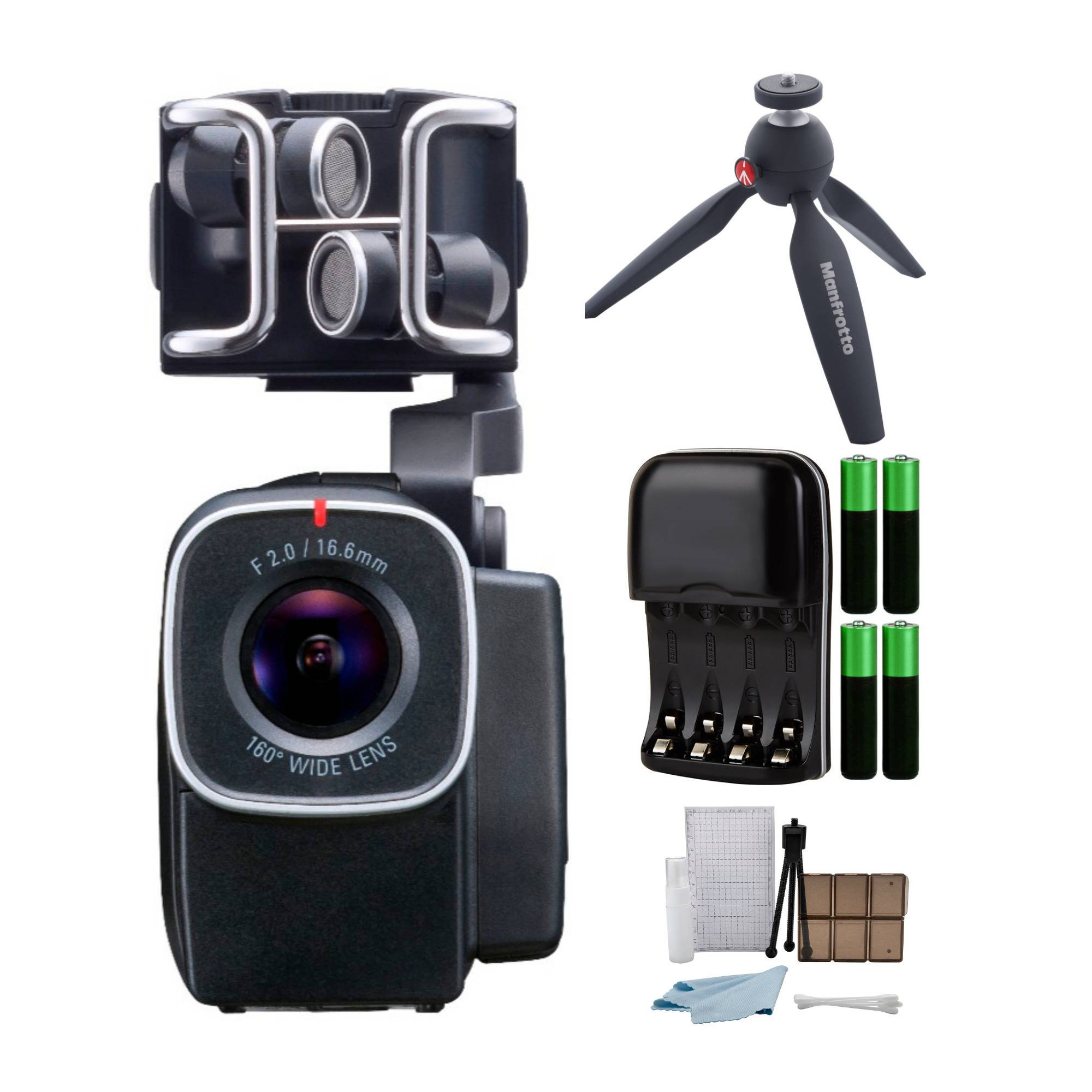 Zoom ZQ8 Handy Video Recorder with Manfrotto Pixi Tripod Bundle