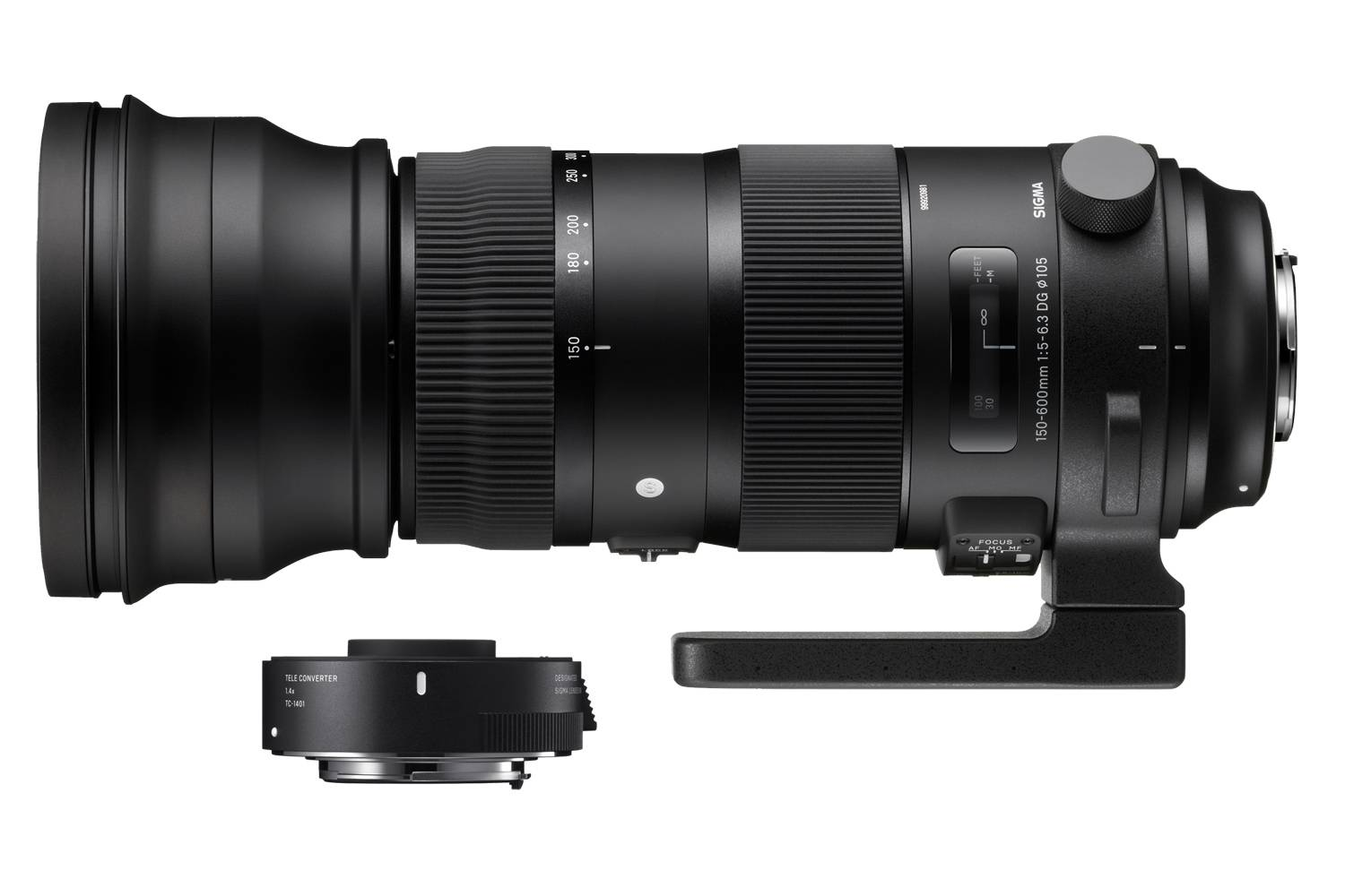 Sigma 150-600mm f/5-6.3 DG OS HSM Sport with Teleconverter TC-1401 for Sigma SA