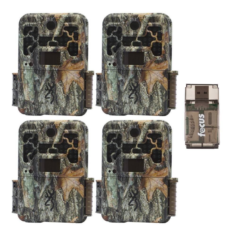 Browning Trail Cameras Recon Force Advantage 20MP Game Camera with 16GB SD Card (4-Pack) with USB 2.0 Card Reader