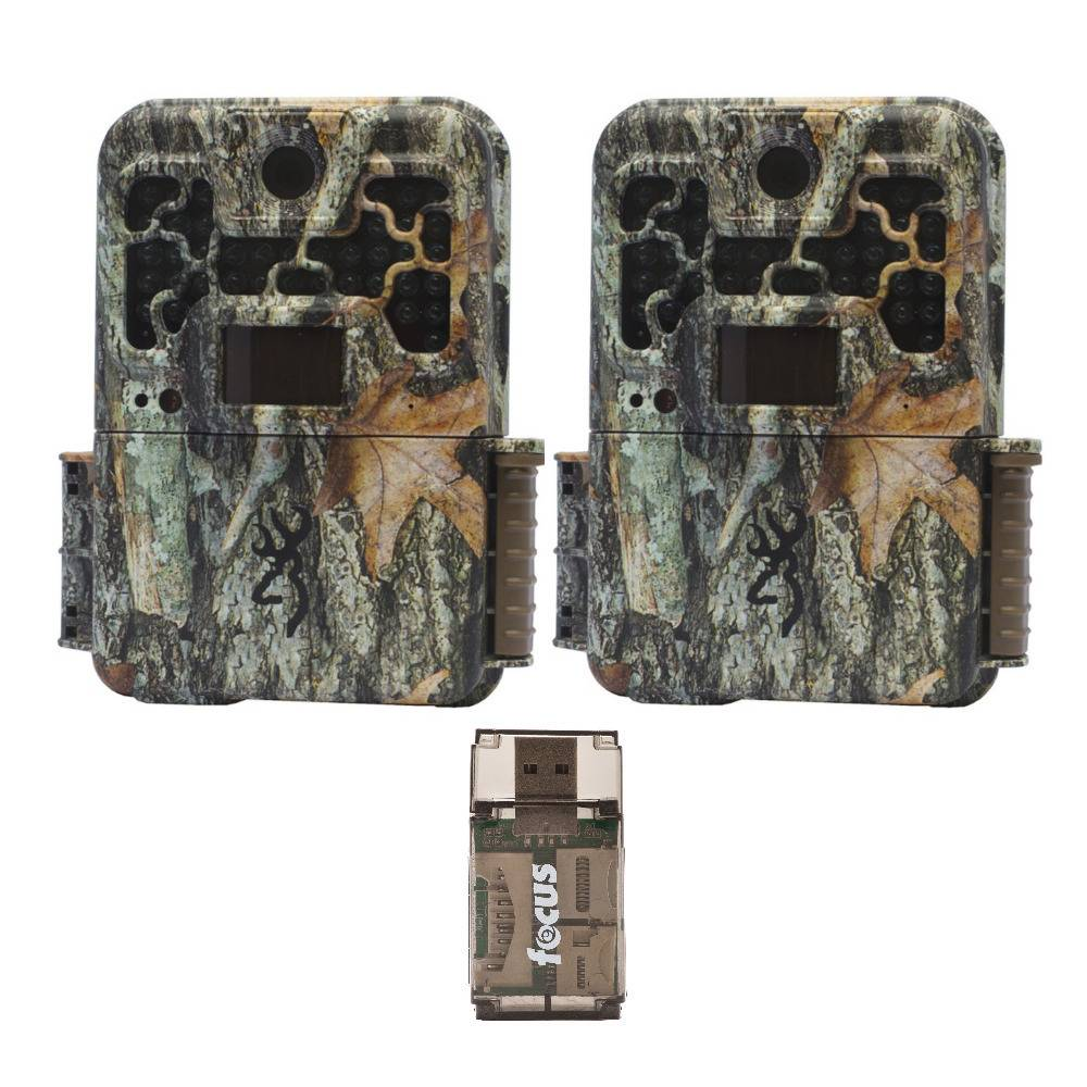 Browning Trail Cameras Recon Force Advantage 20MP Game Camera with 16GB SD Card (2-Pack) with USB 2.0 Card Reader