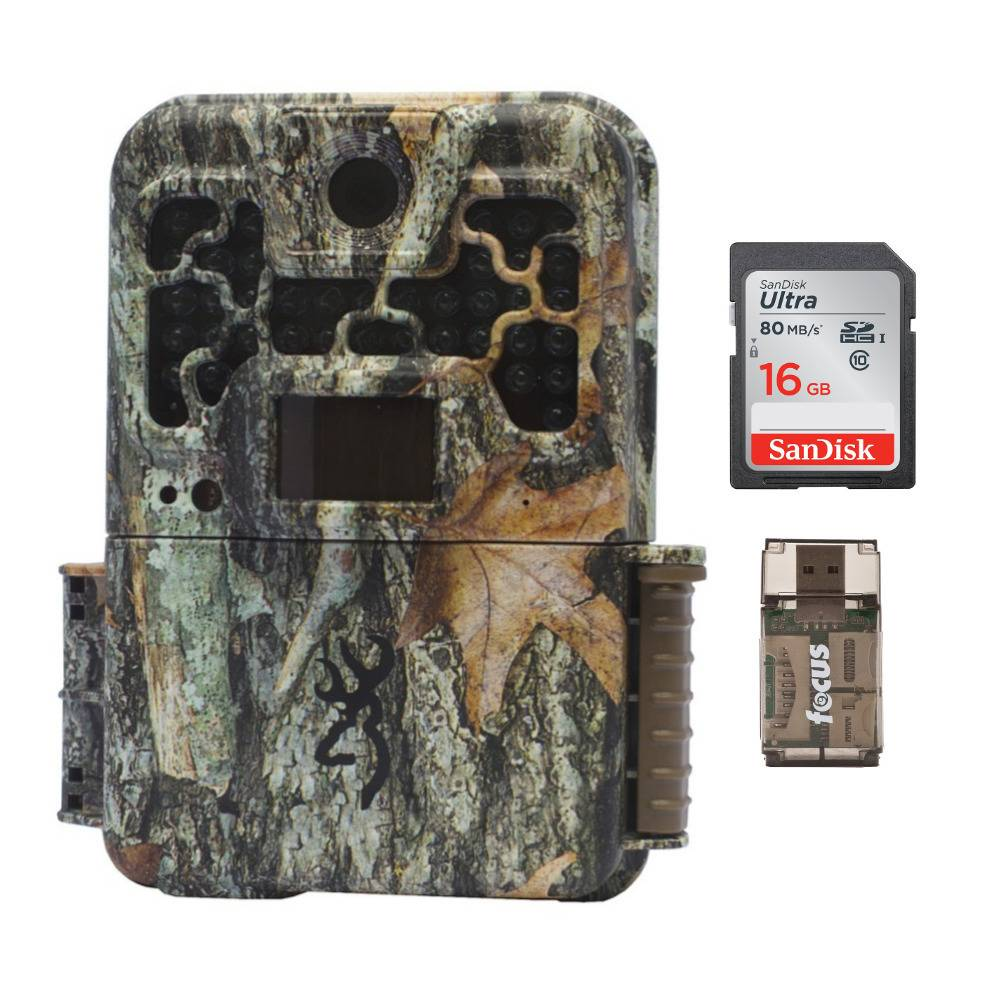 Browning Trail Cameras Recon Force Advantage 20MP Game Camera with 16GB SD Card and USB 2.0 Card Reader