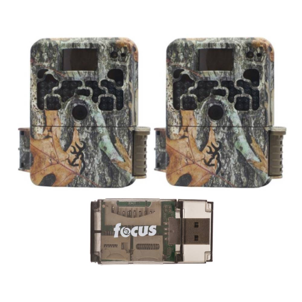 Browning Trail Cameras 16MP Strike Force Extreme Game Cam (2-Pack) with USB Card Reader