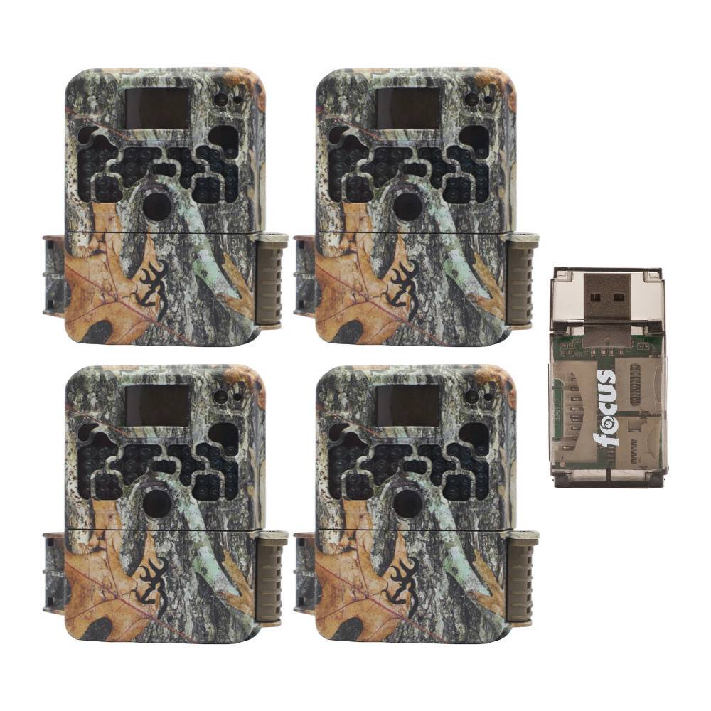 Browning Trail Cameras 16MP Strike Force Extreme Game Cam (4-Pack) with USB Card Reader