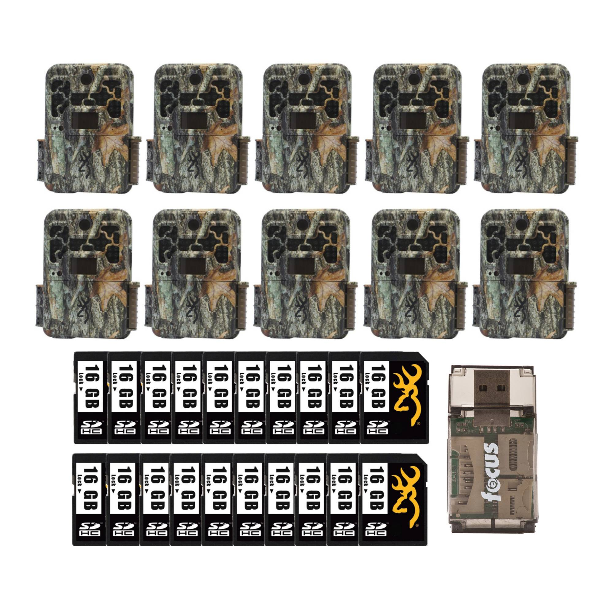 Browning Trail Cameras Recon Force Advantage 20MP Game Camera 10-Pack and Cards Kit