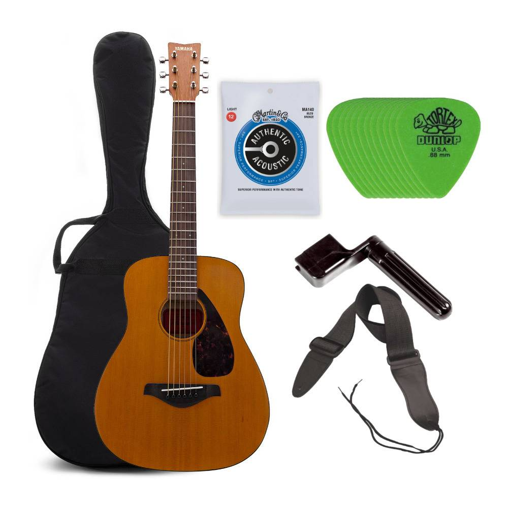 Yamaha JR1 3/4 Size Steel String Acoustic Guitar with Accessory Bundle