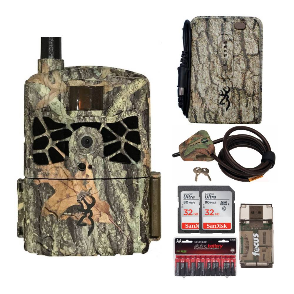 Browning Trail Cameras Defender Wireless 20MP Game Camera AT&T with Memory Cards, Card Reader and Accessory Bundle