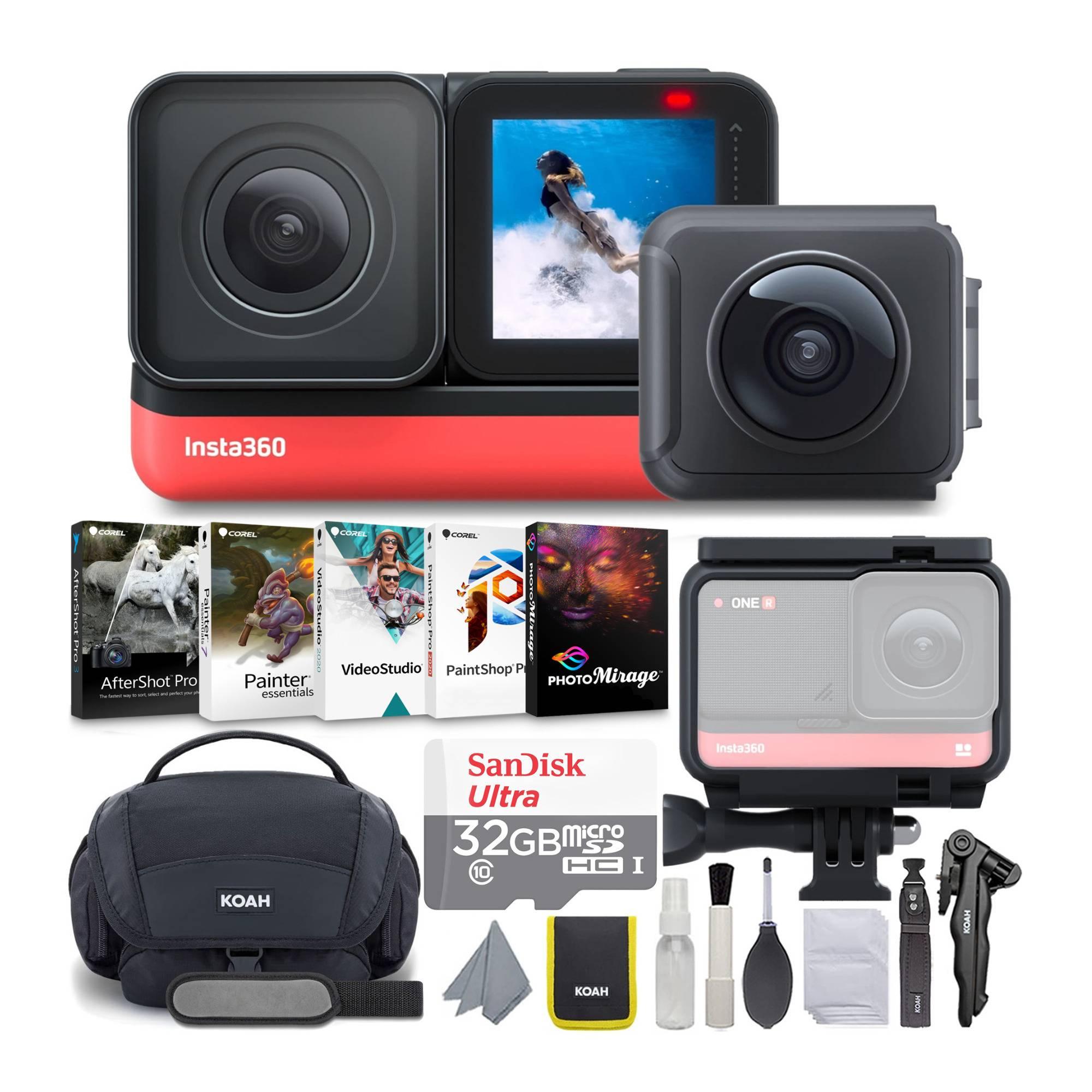 Insta360 ONE R Twin Camera Edition Complete Content Creation Bundle