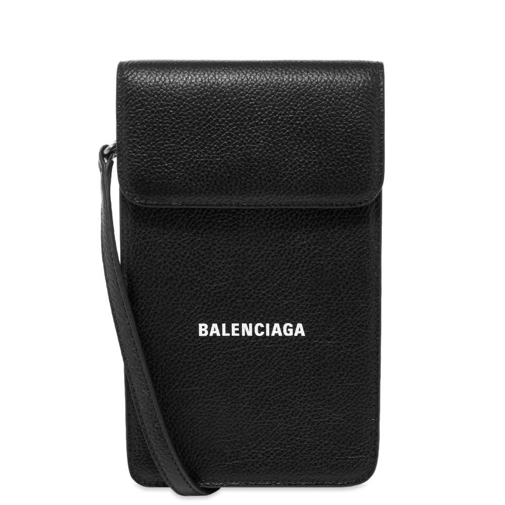 Balenciaga Leather Phone Holder With Shoulder Strap
