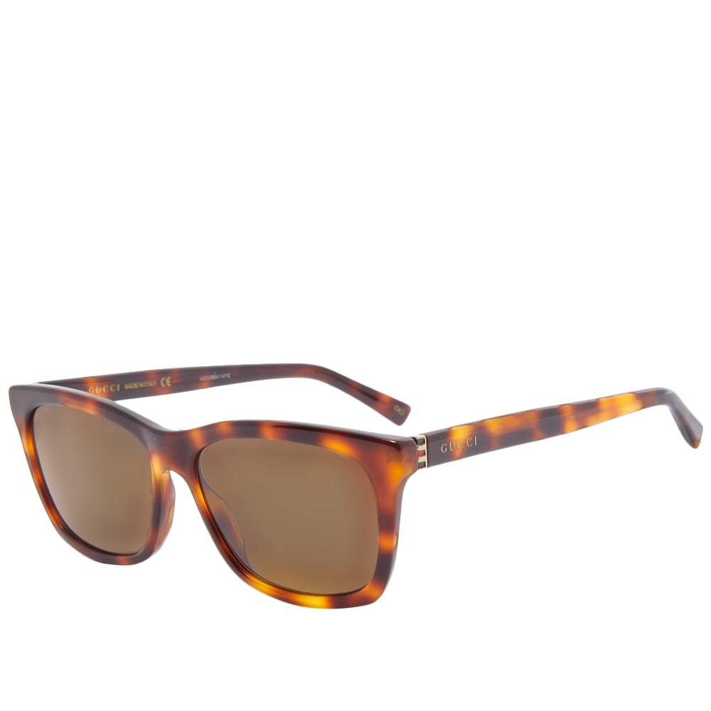 Gucci Eyewear Gucci Web Plaque Square Frame Sunglasses
