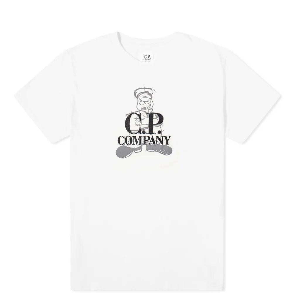 C.P. Company Undersixteen Comics & Cars Logo Tee