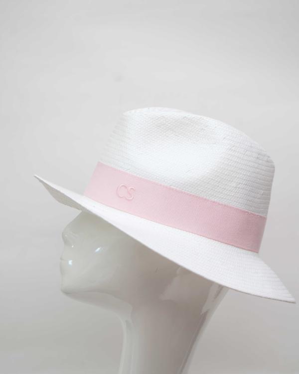 Carmen Sol Dolores Packable Fedora hat - Baby Pink M