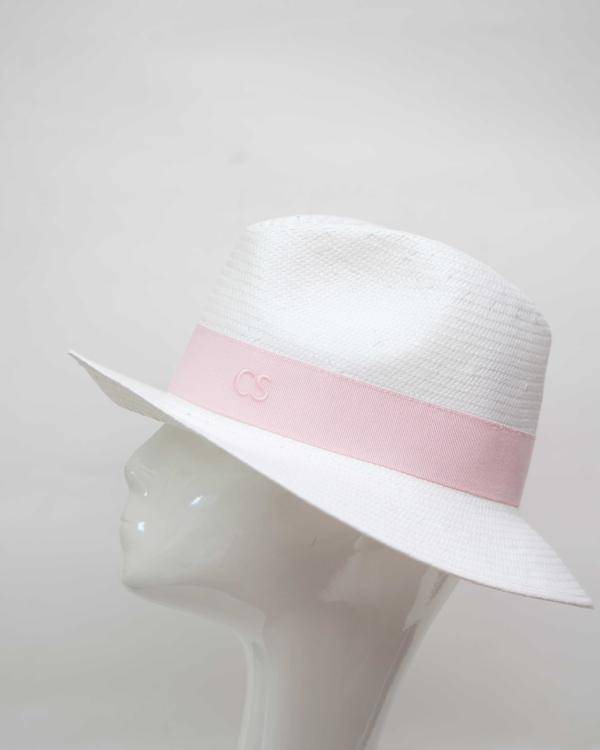 Carmen Sol Dolores Packable Fedora hat - Baby Pink S