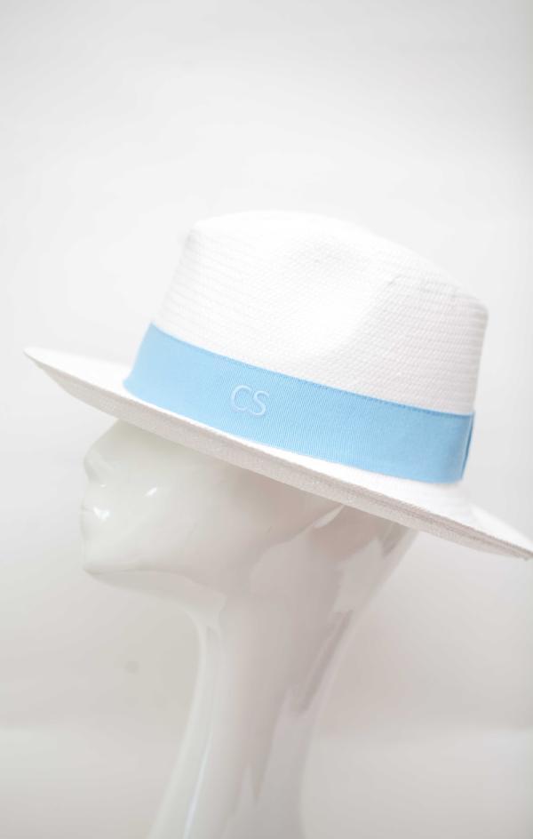 Carmen Sol Dolores Packable Fedora hat - Baby Blue M