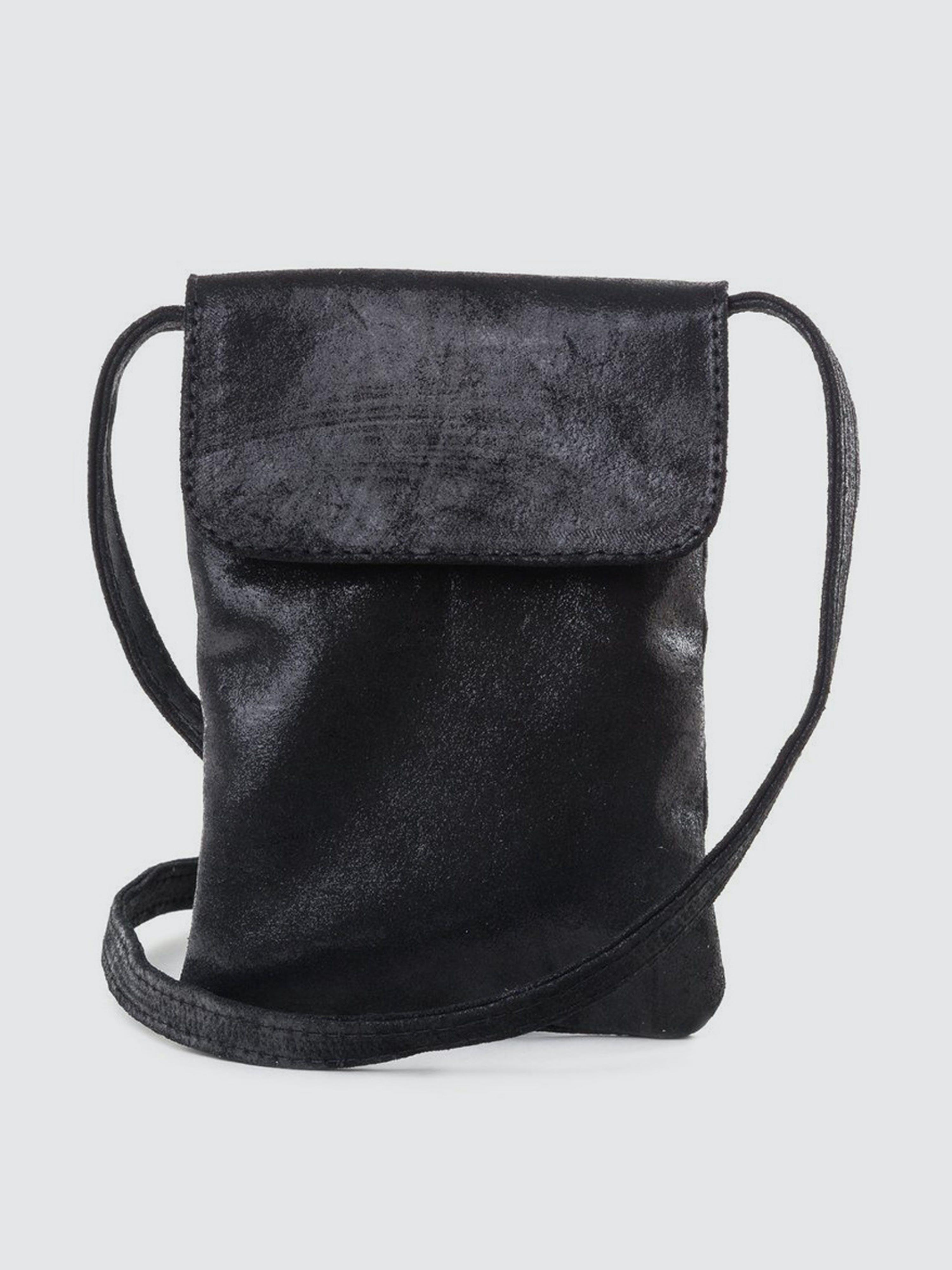 CoFi Leathers Penny Phone Bag: Black  - Black