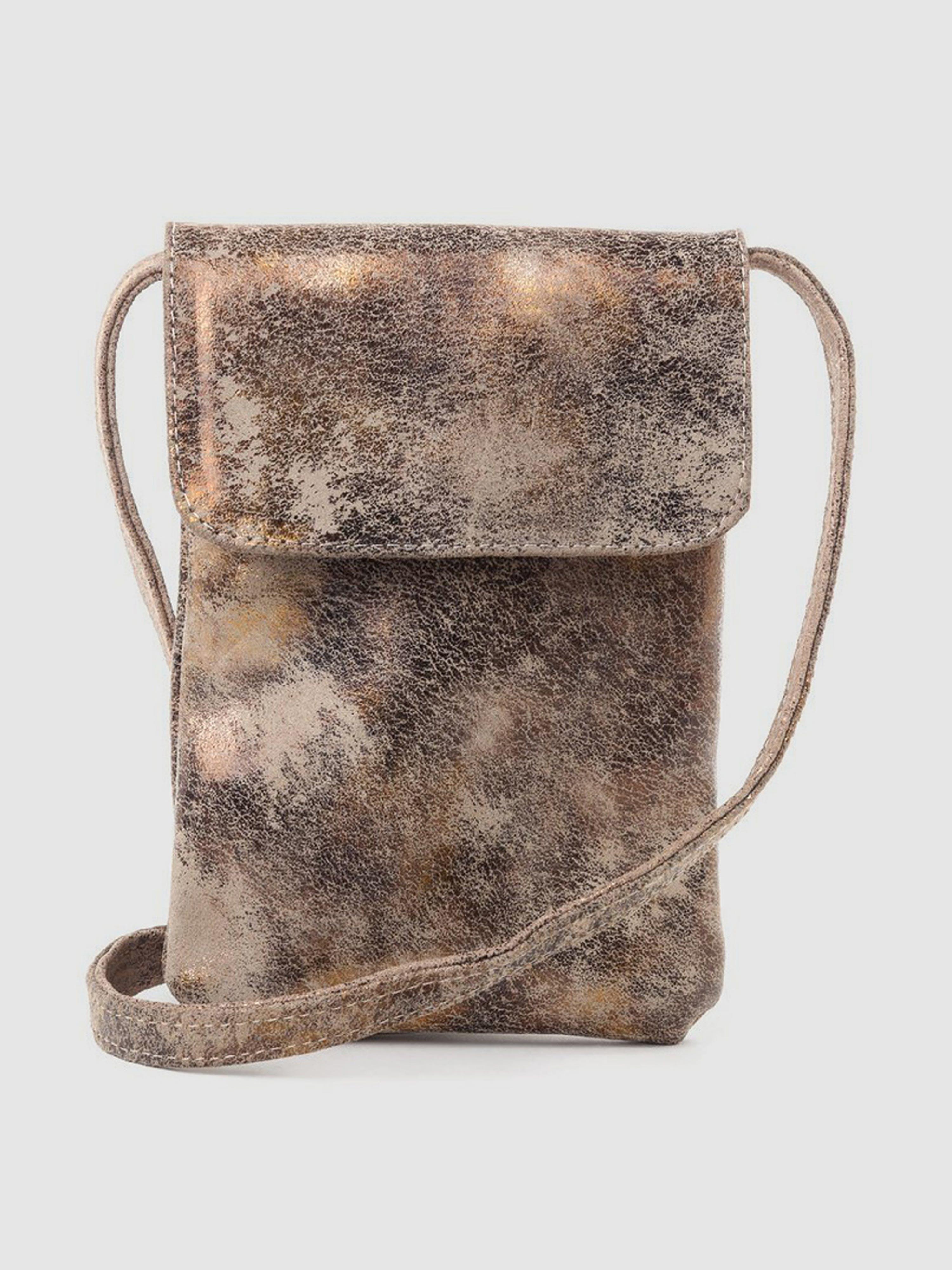 CoFi Leathers Penny Phone Bag: Gold  - Gold