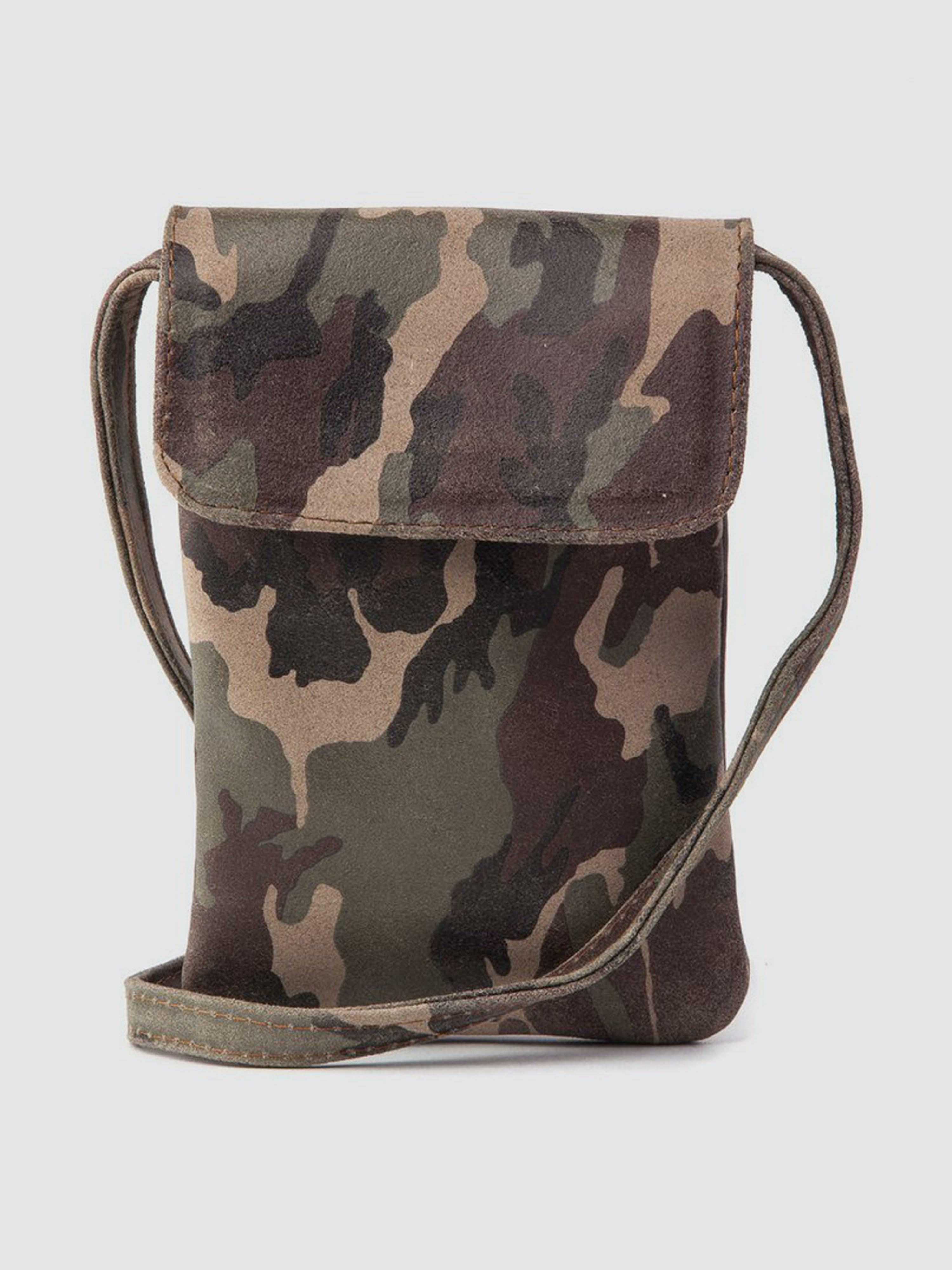CoFi Leathers Penny Phone Bag: New Camouflague  - Green