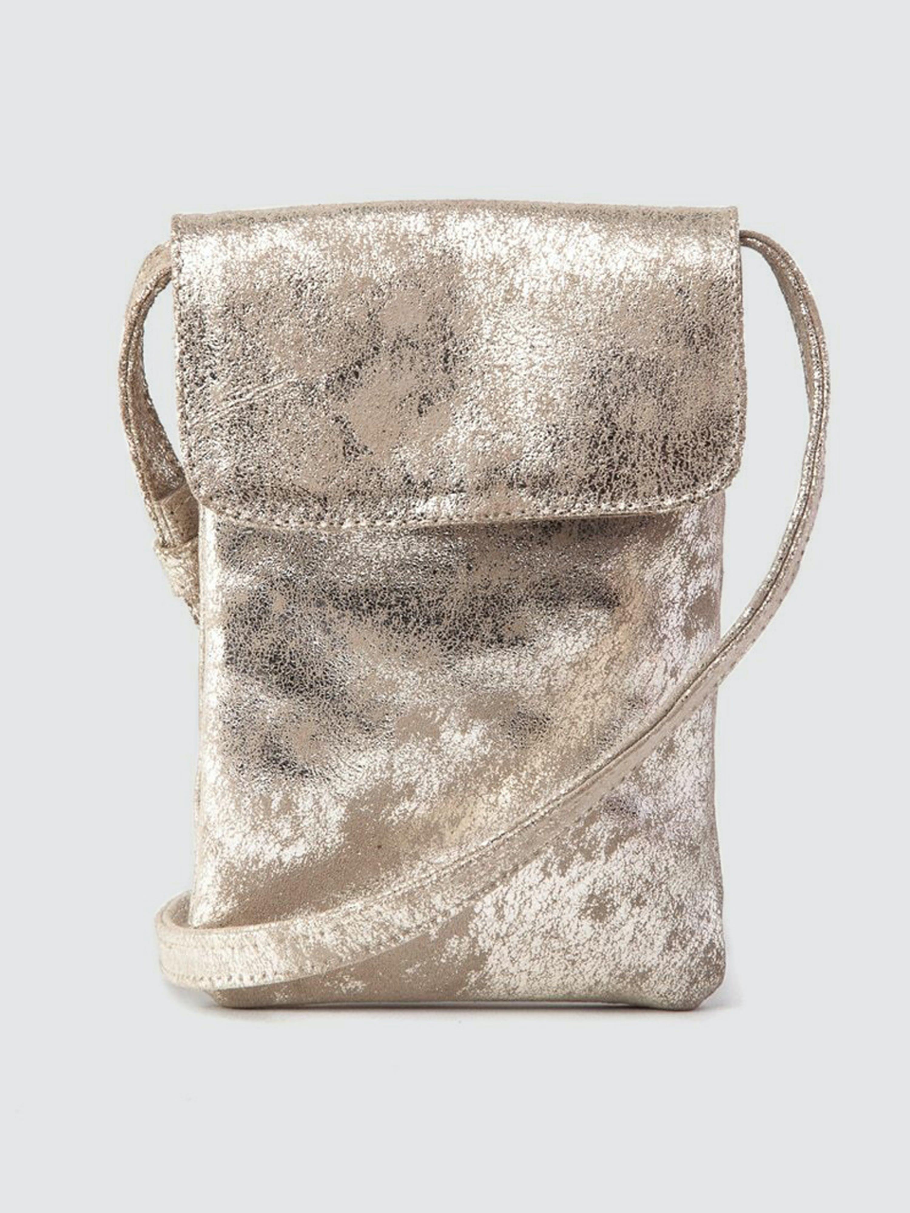 CoFi Leathers Penny Phone Bag: Platinum  - Grey