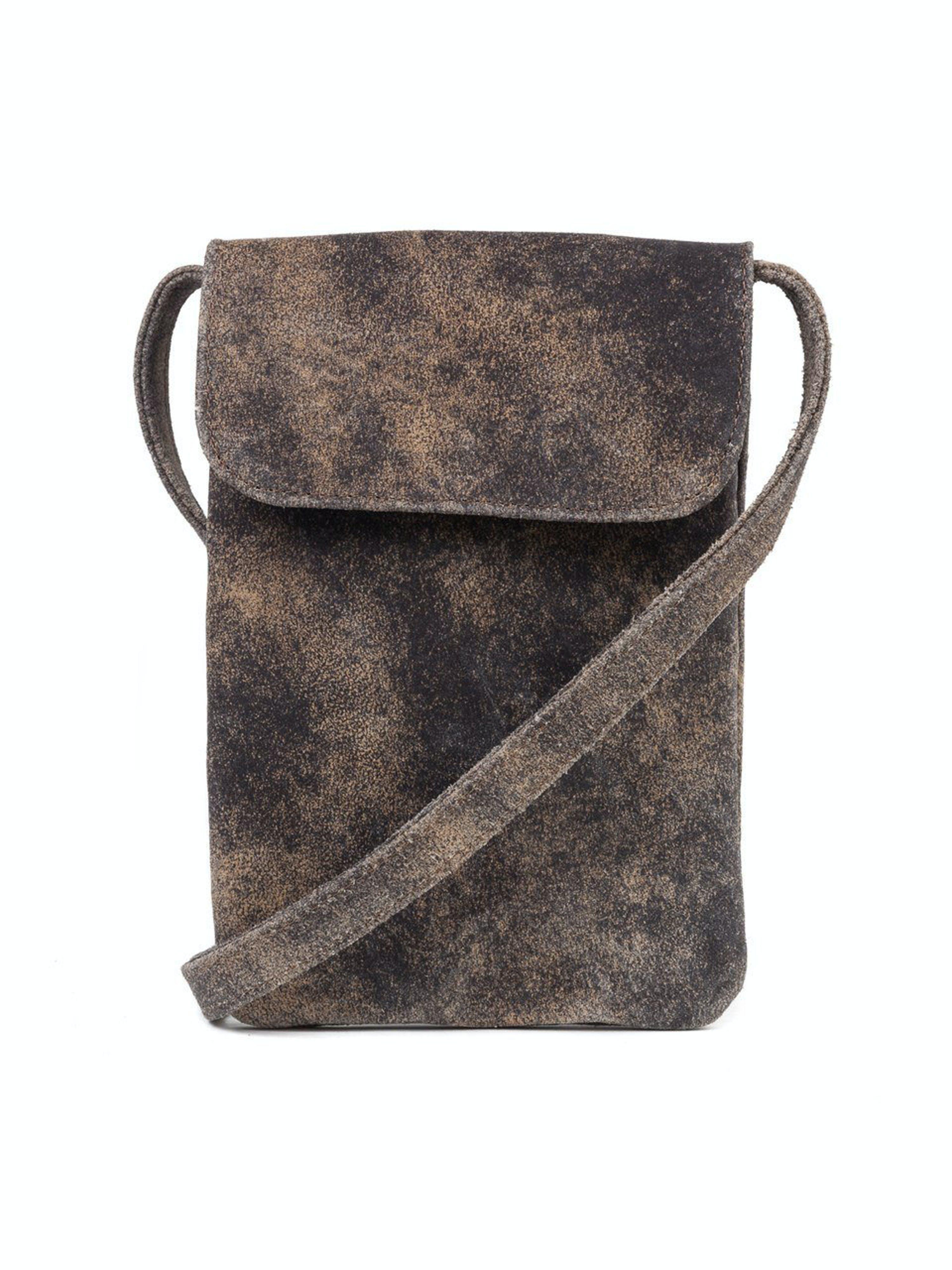 CoFi Leathers Penny Phone Bag: Vintage Brown  - Brown
