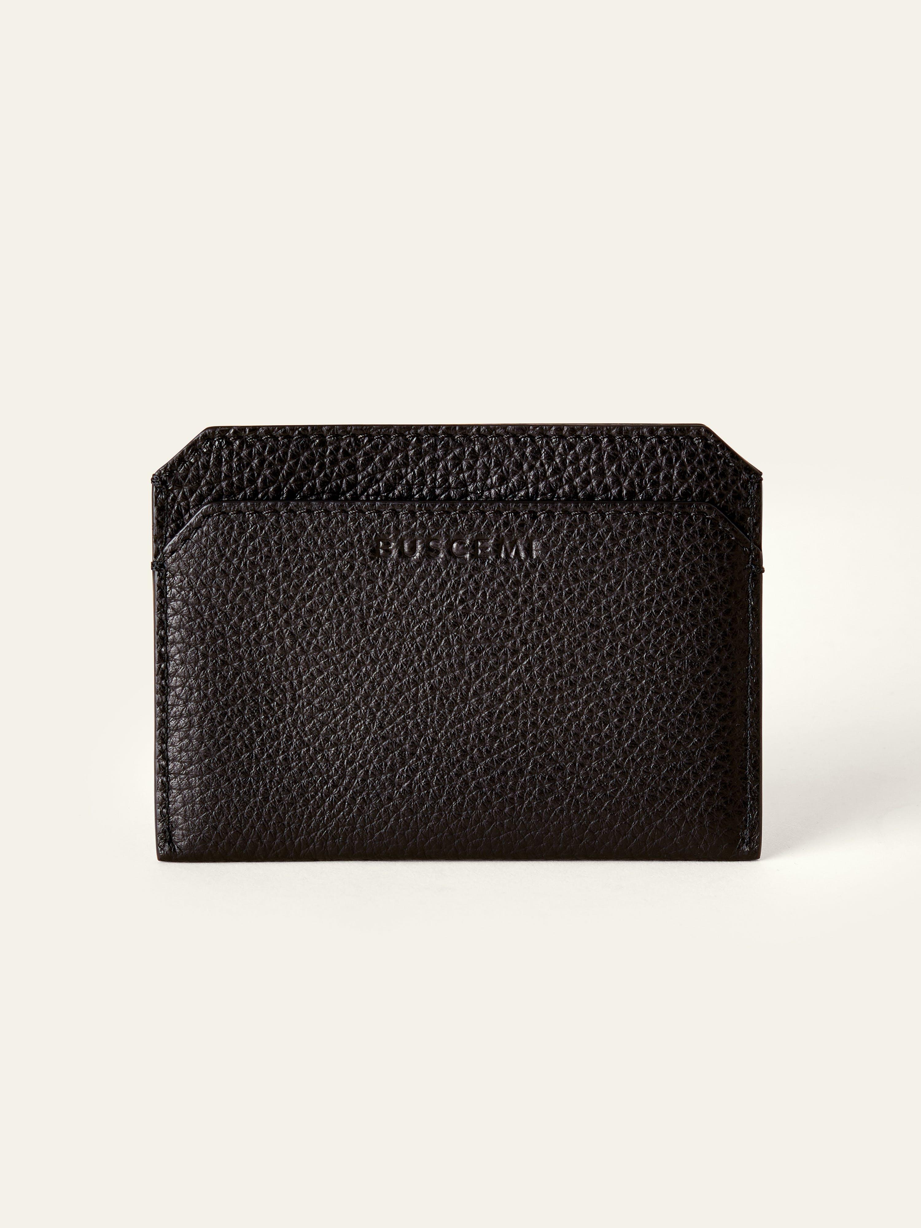 BUSCEMI Large Front Pocket Wallet  - Black