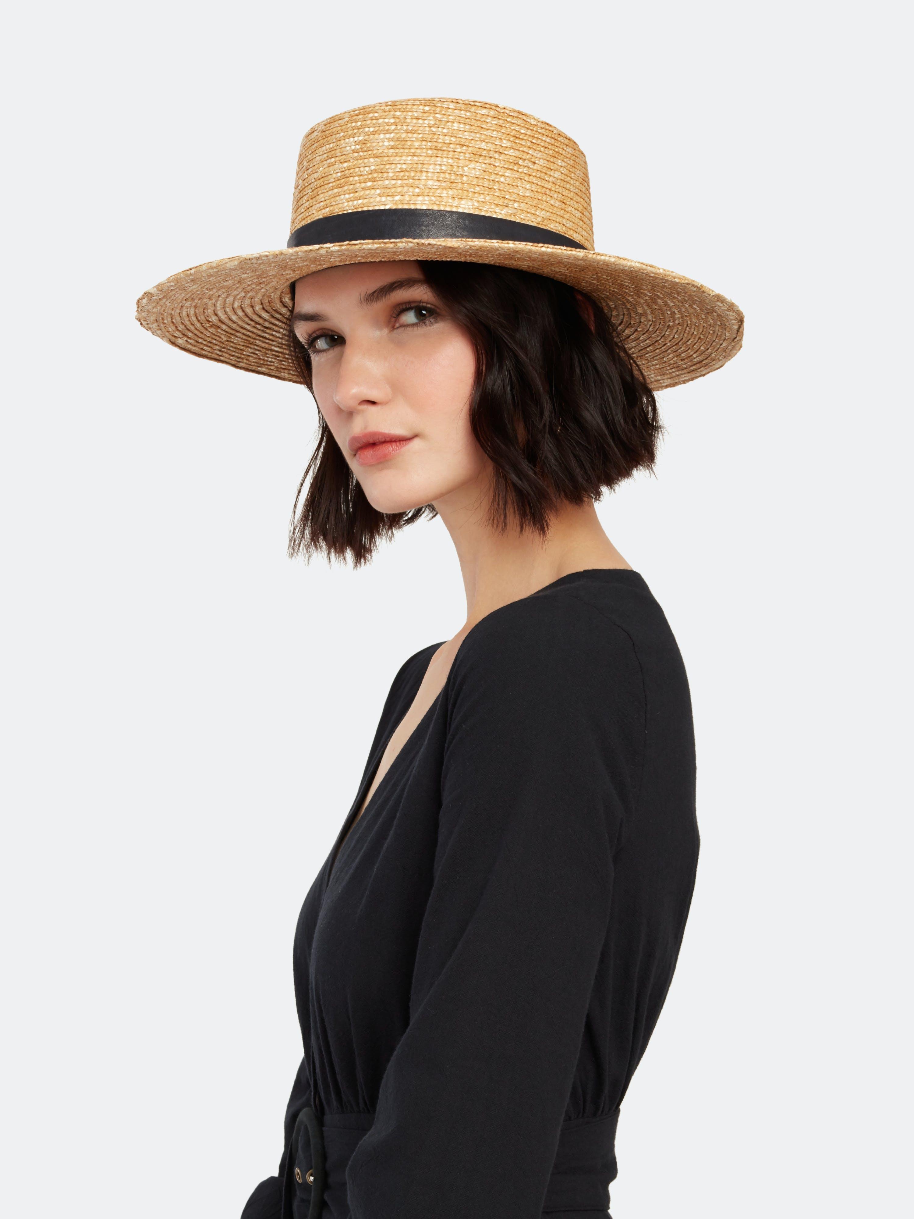 Janessa Leone Klint Straw Hat - L  - Brown