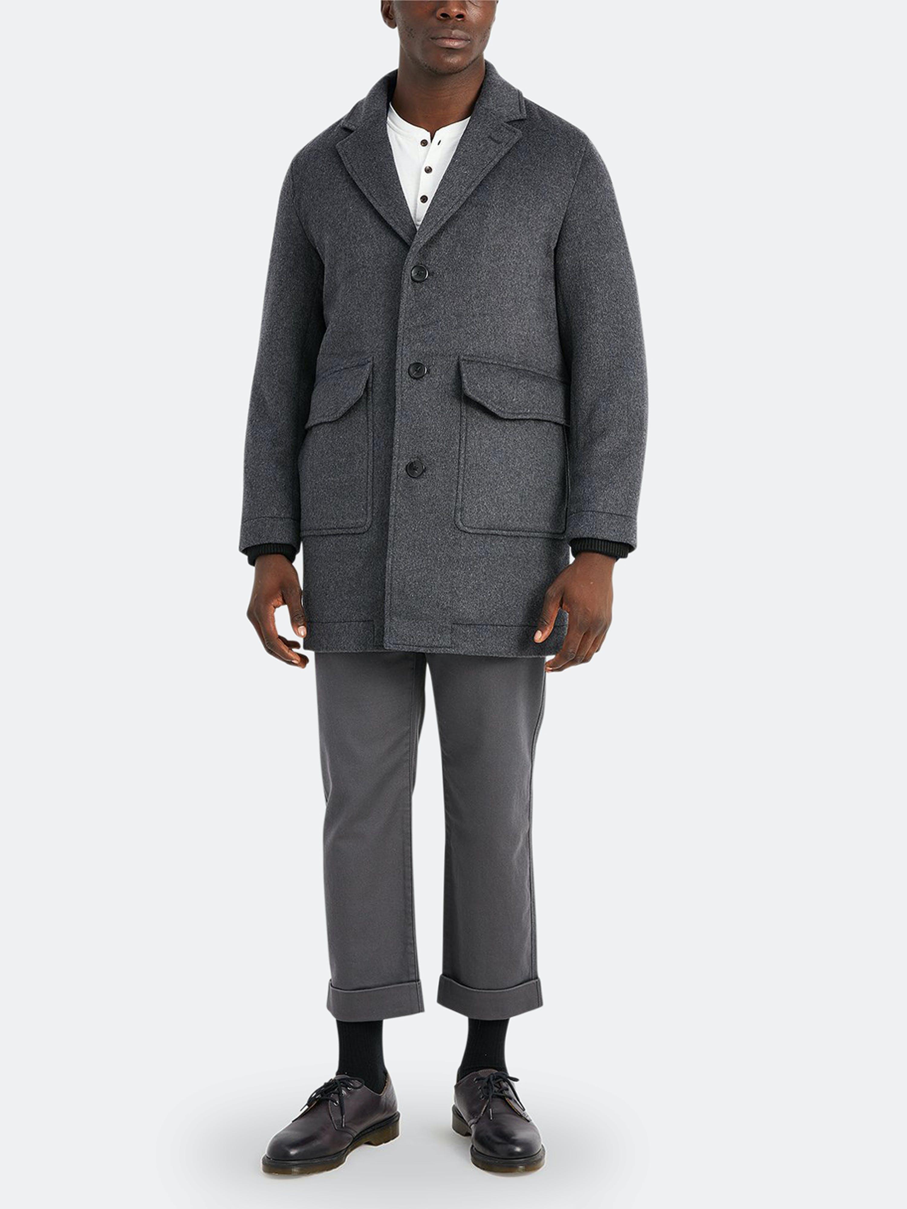 ONS Clothing Dorian Wool Coat  - Grey