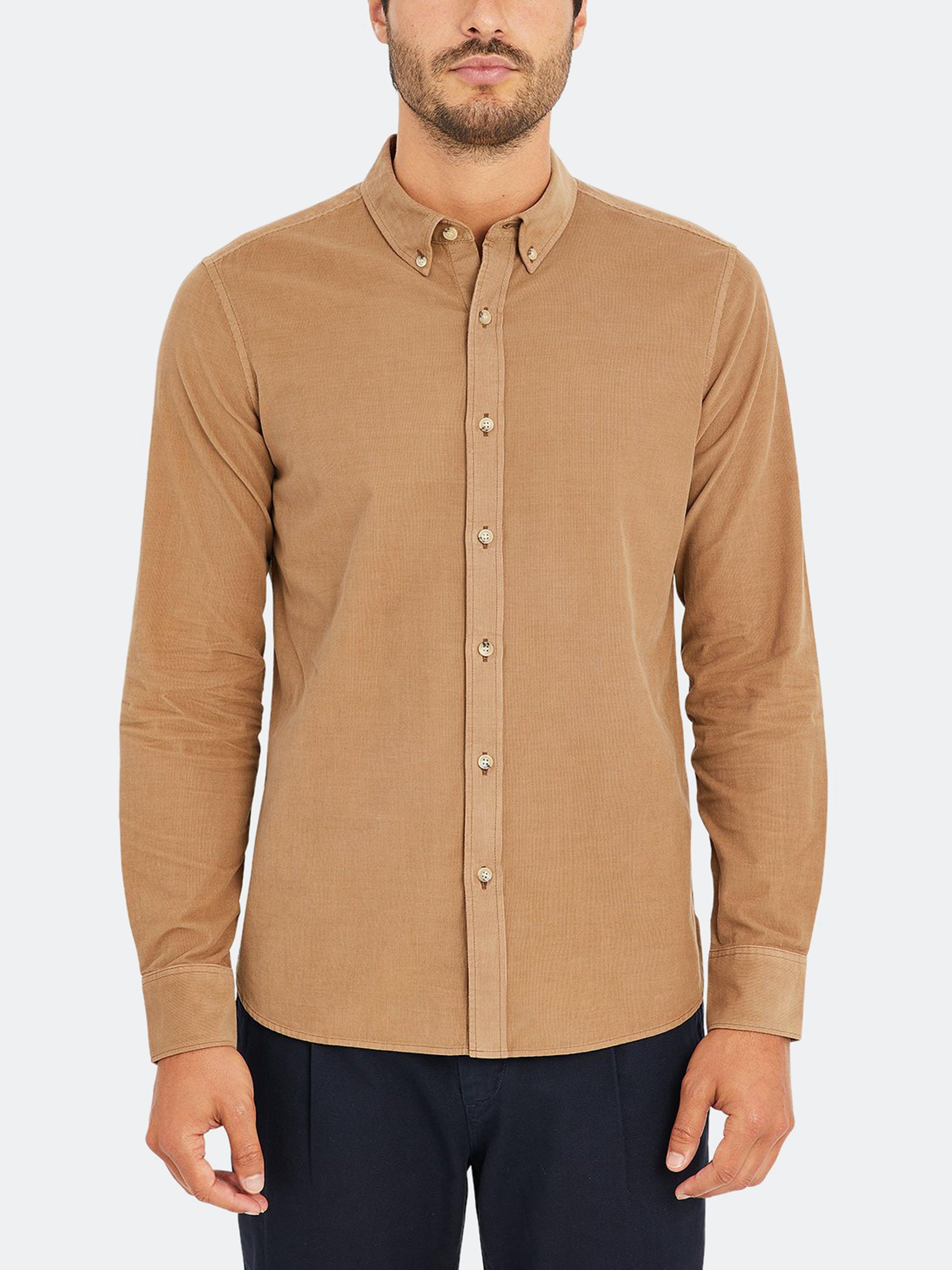 ONS Clothing Fulton Cord Shirt  - Brown