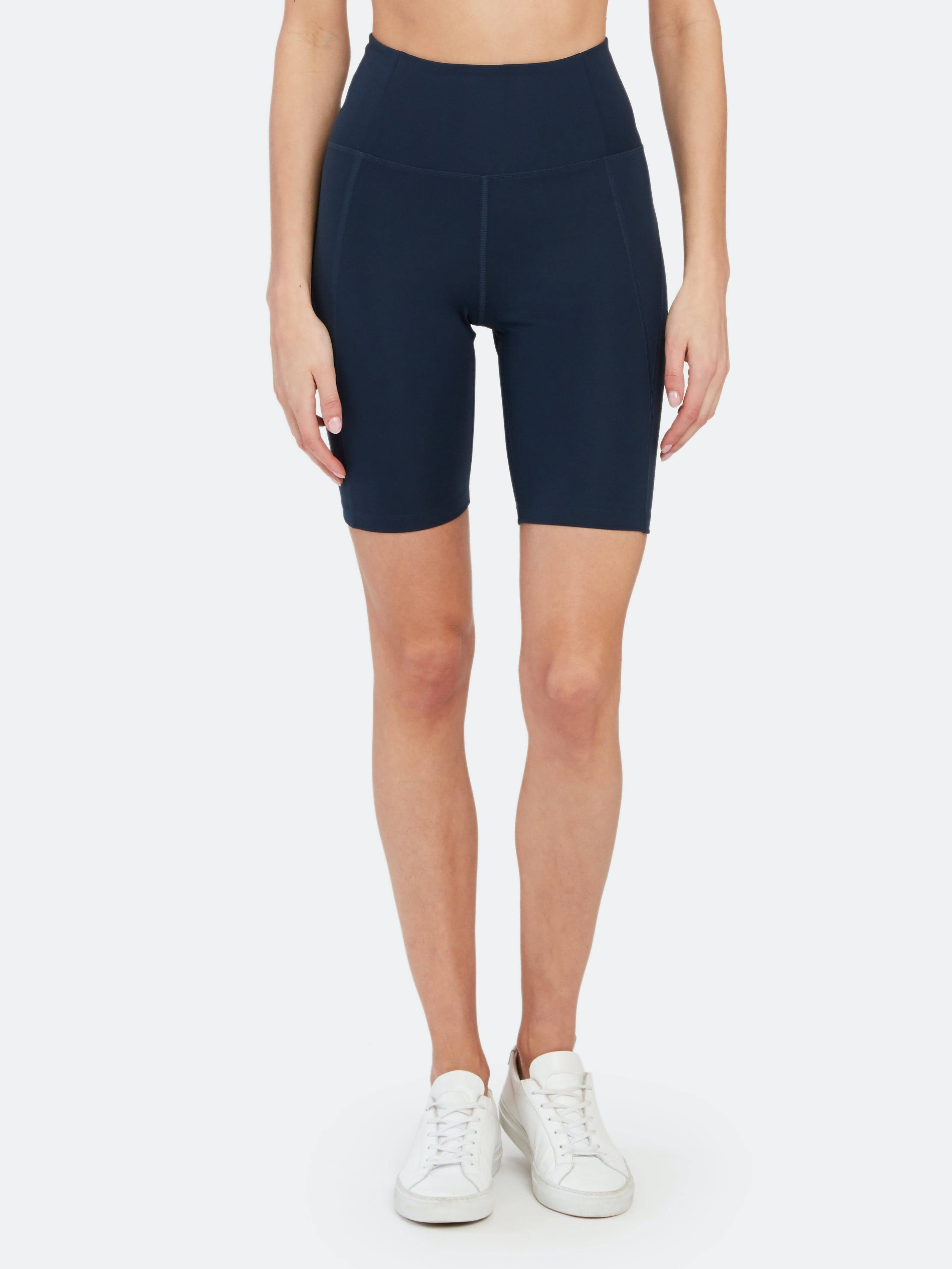 Girlfriend Collective High-Rise Bike Short - S - Also in: M, XS, XL, L  - Blue