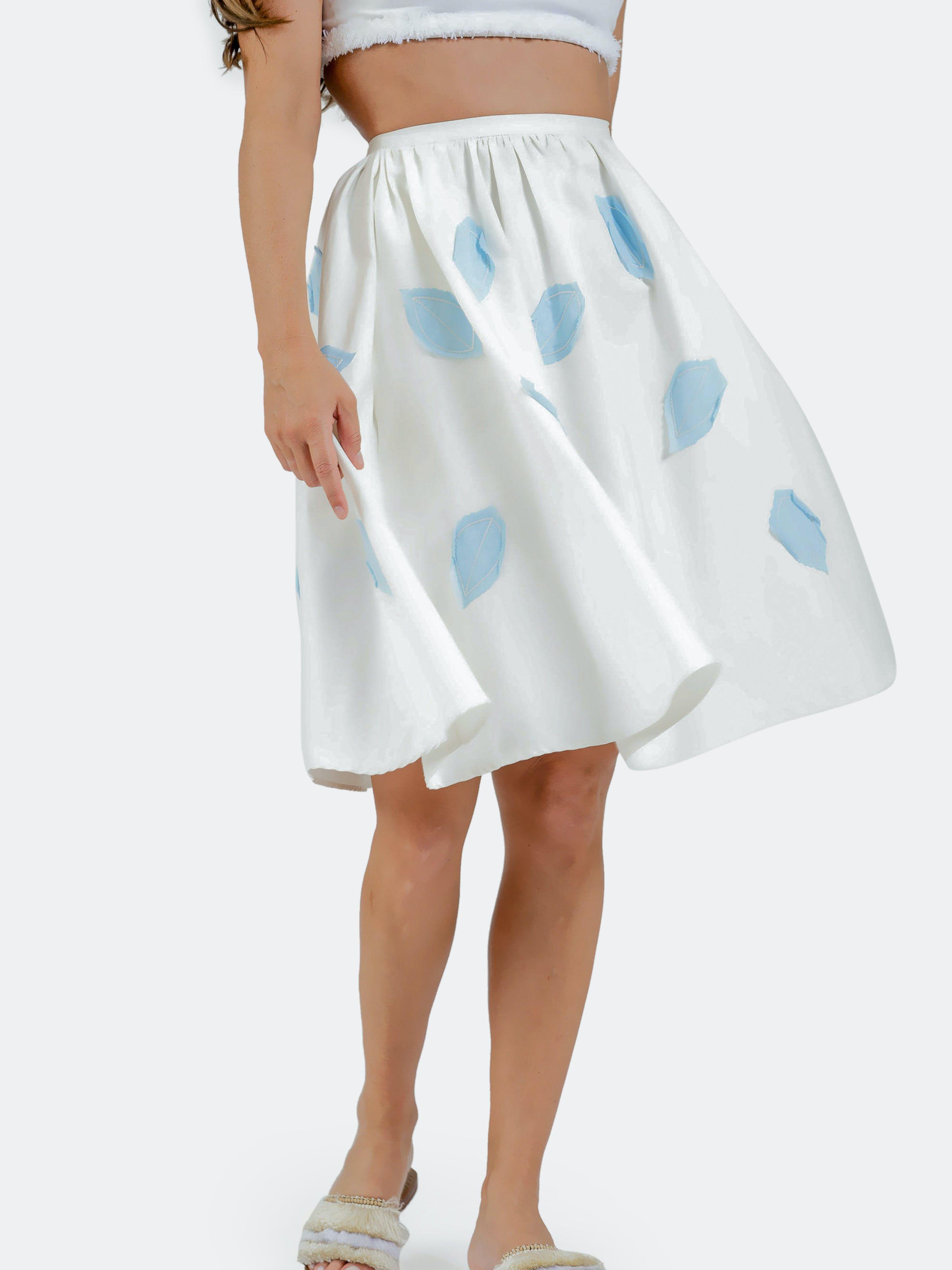 Palmier Meadow Lane Garden Skirt - L - Also in: S, M, XS  - White