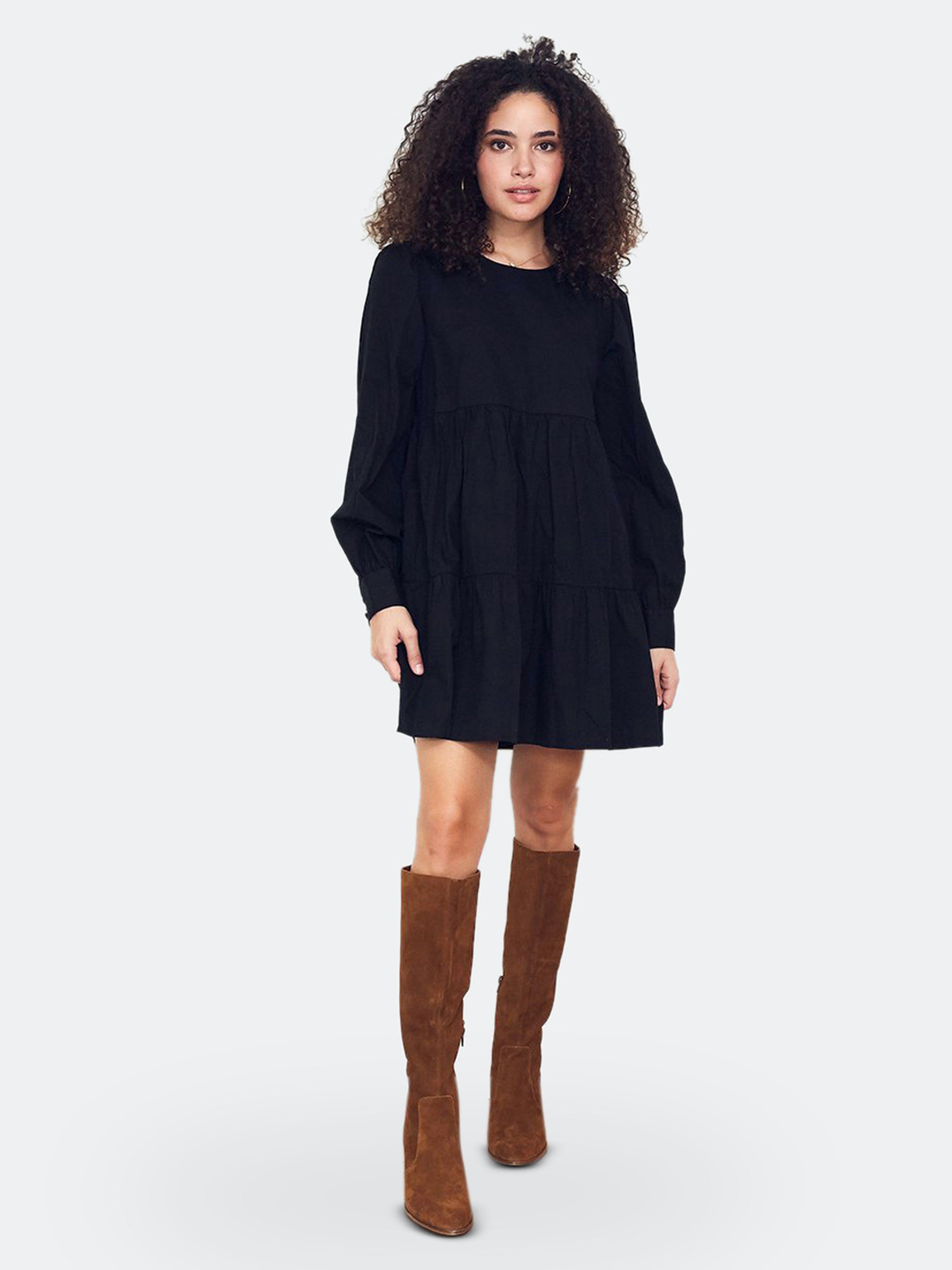 Paneros Clothing Black Currant Olivia Mini Dress  - Black
