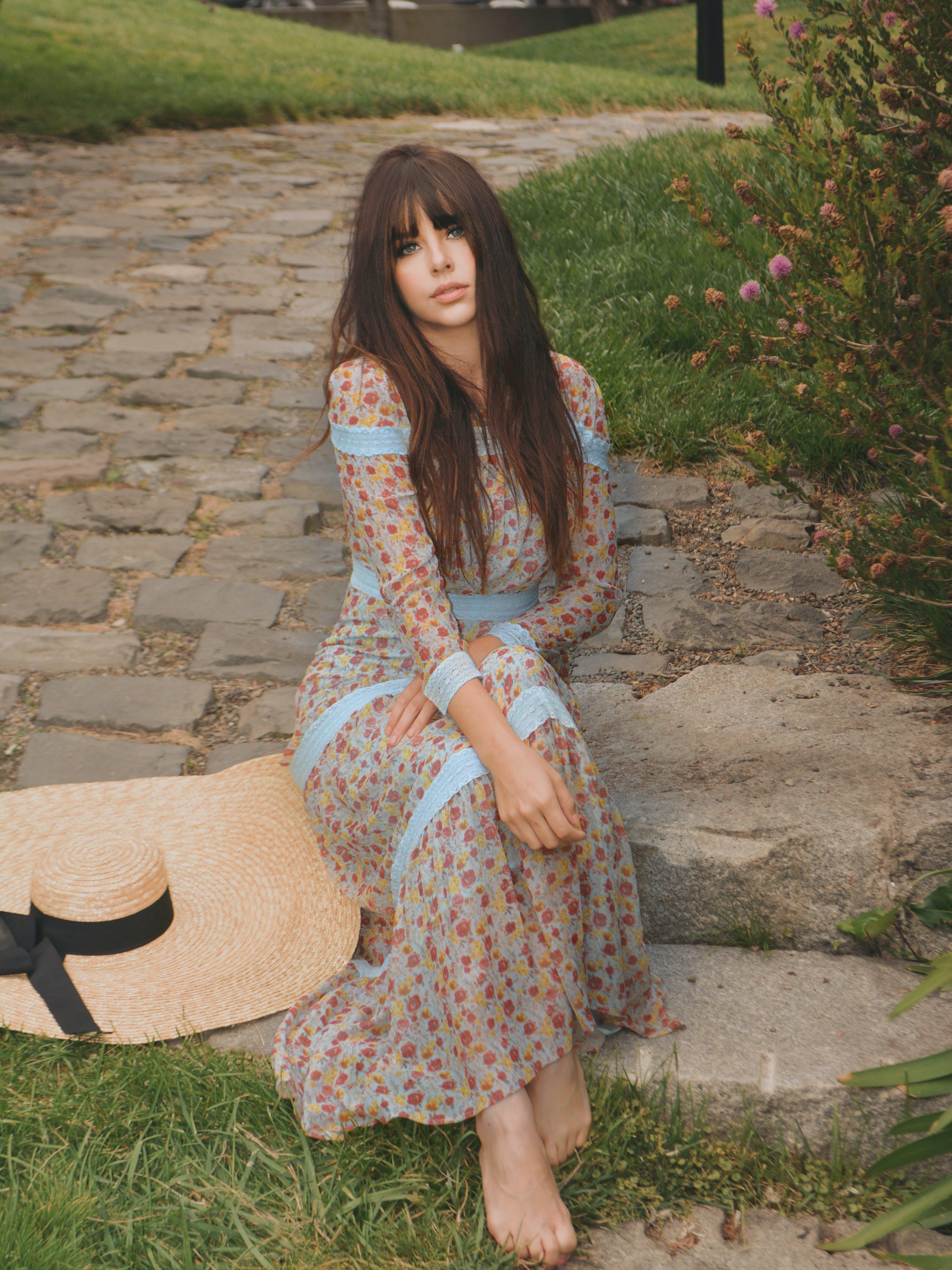 Shabby Chic - Verified Partner Hawthorne Garden Maxi Dress - L - Also in: M, S, XS  - Blue