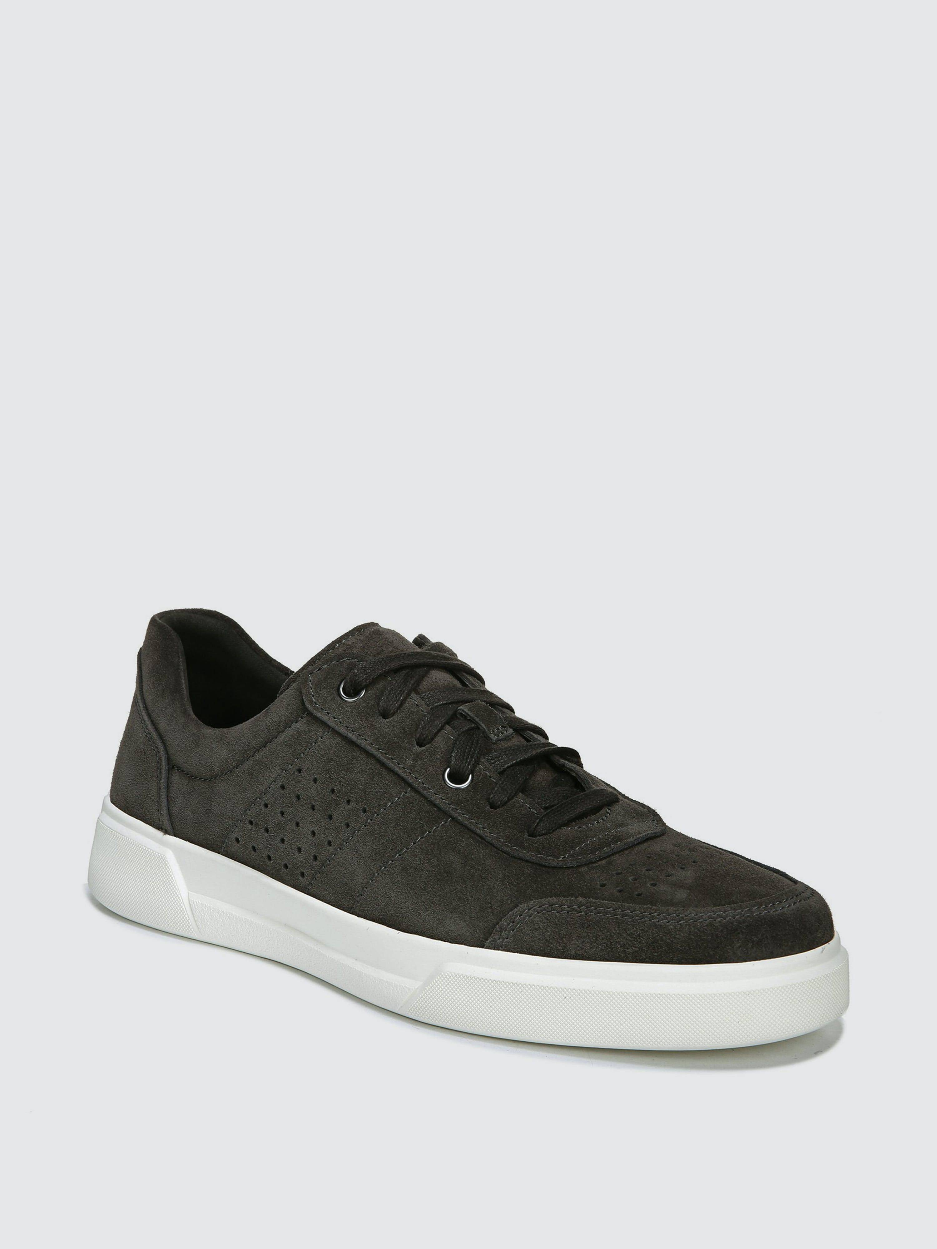 Vince Shoes - Verified Partner Barnett Sport Suede Leather Low Top Sneaker - 10/5 - Also in: 9, 8/5, 10, 7, 12, 11, 9/5, 8  - Grey